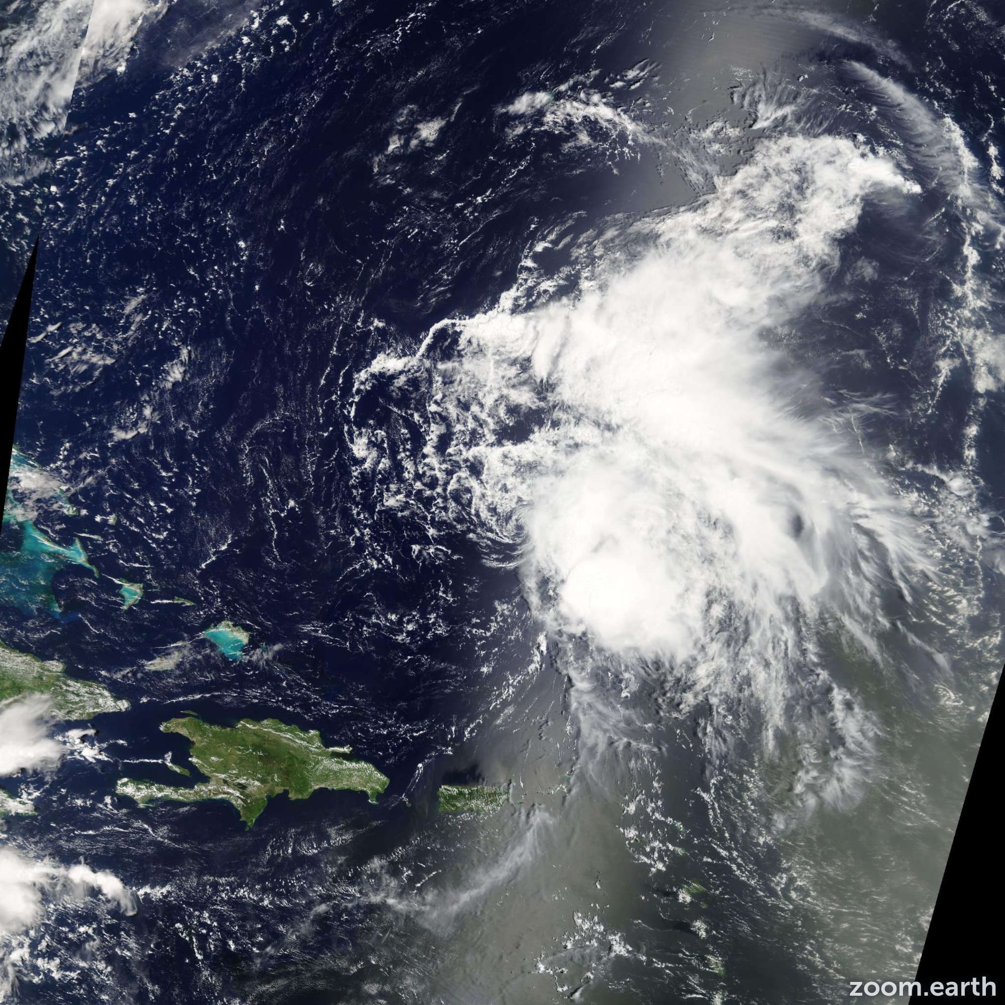 Satellite image of Storm Colin 2010