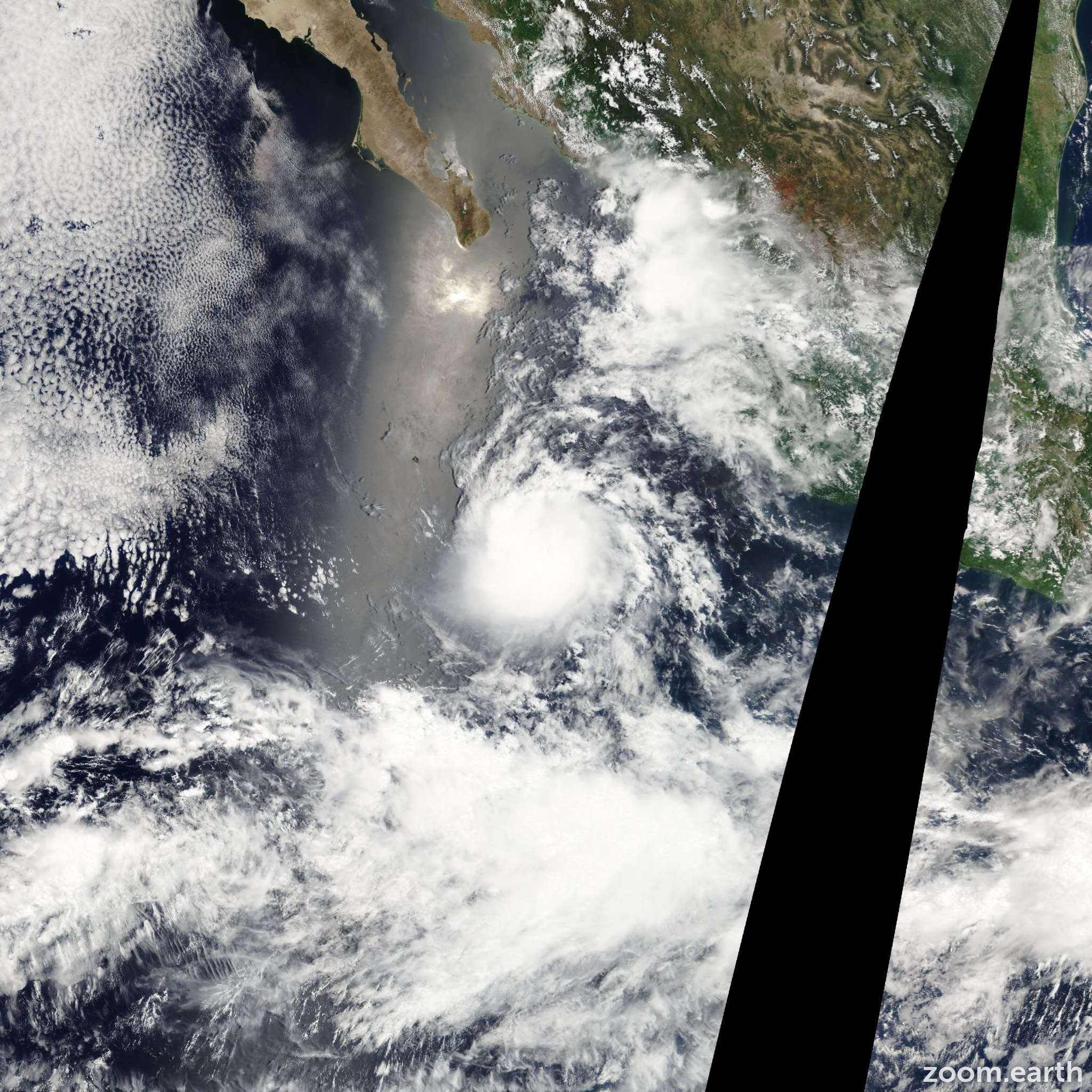 Satellite image of Storm Estelle 2010