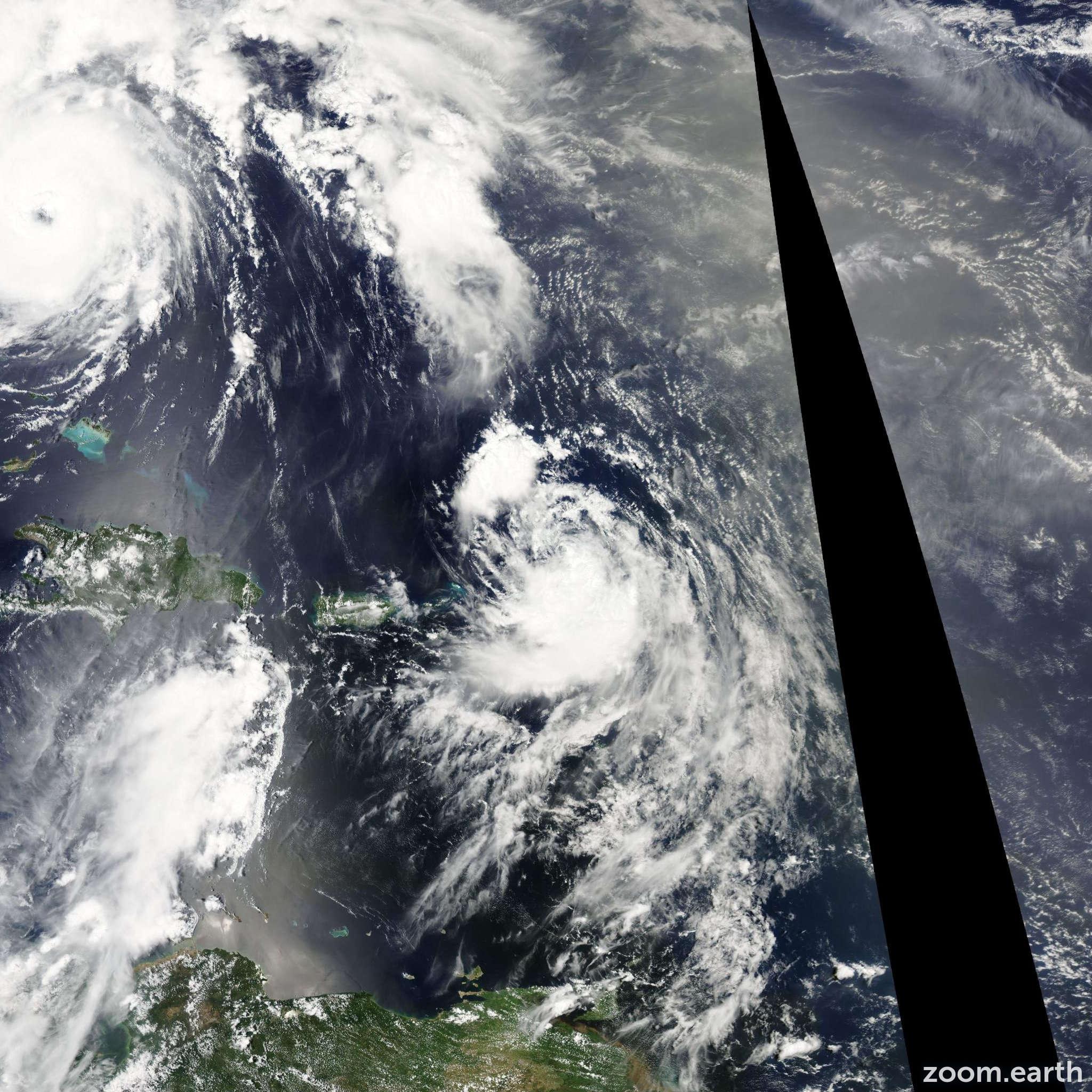 Satellite image of Storm Fiona 2010