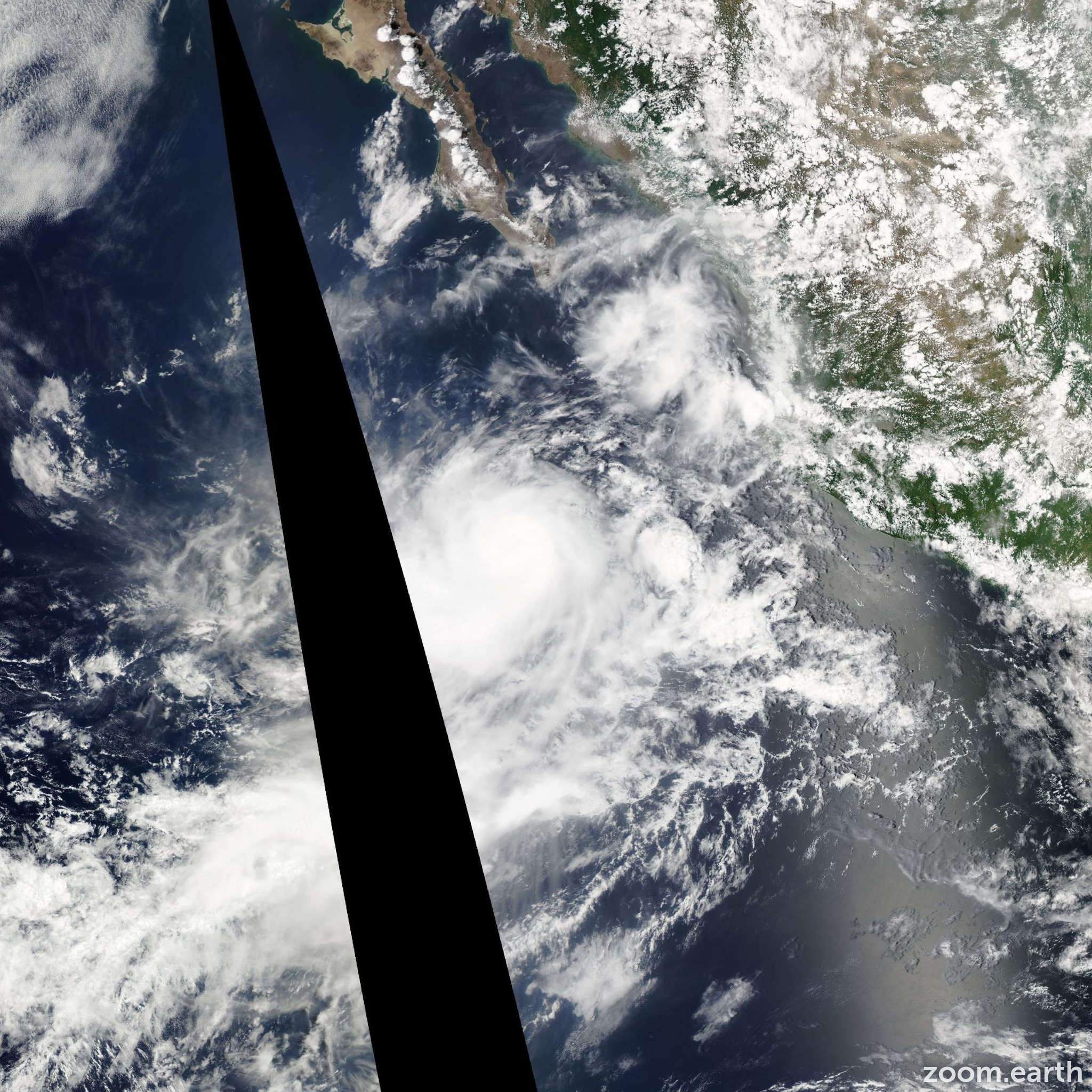 Satellite image of Hurricane Frank 2010