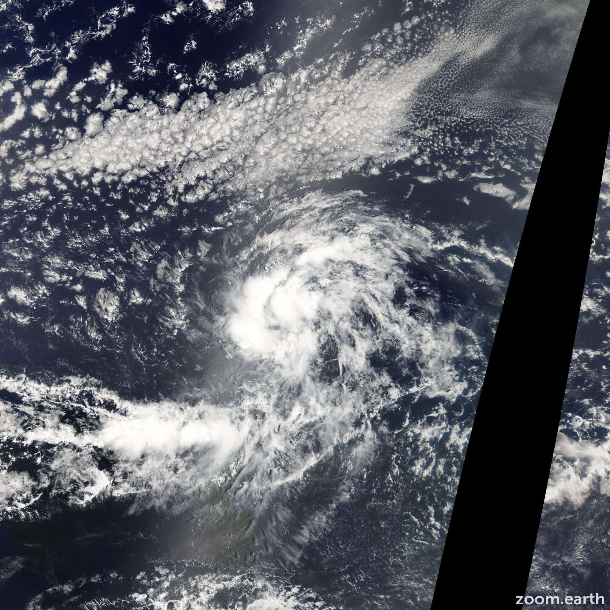 Satellite image of Storm Gaston 2010