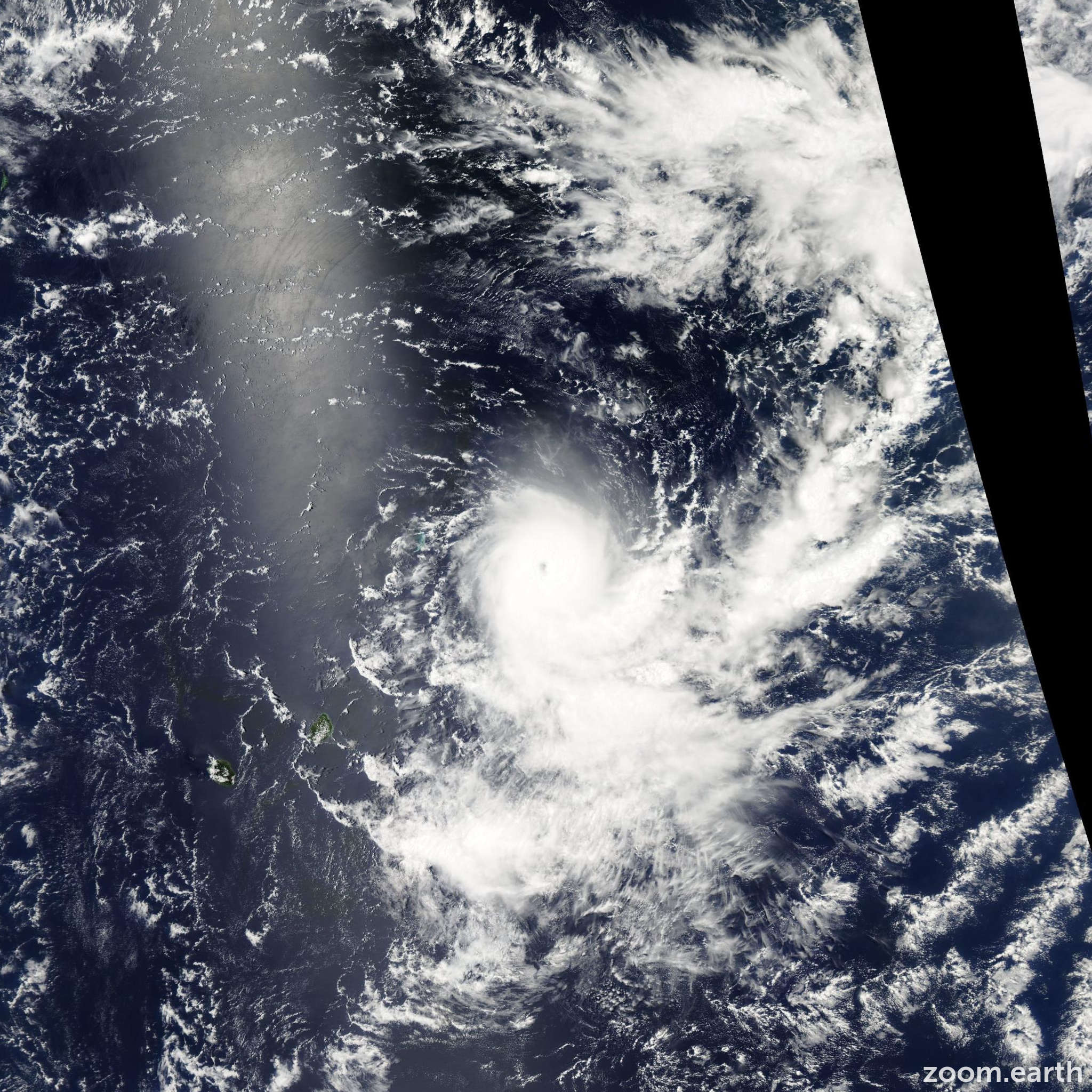 Satellite image of Cyclone Gelane 2010