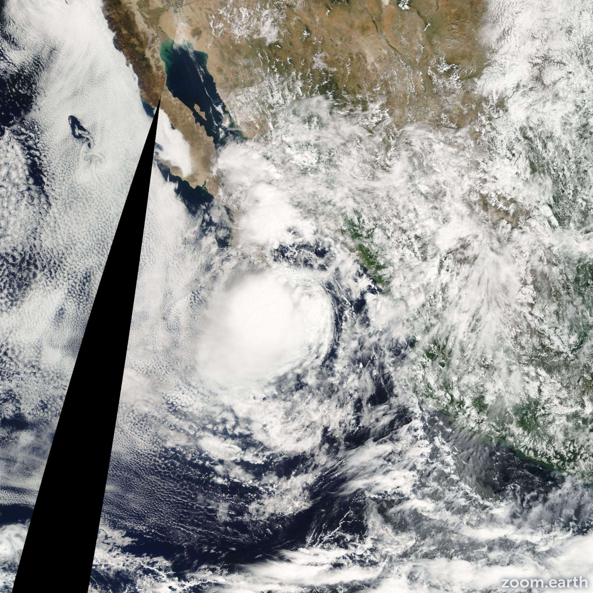 Satellite image of Storm Georgette 2010
