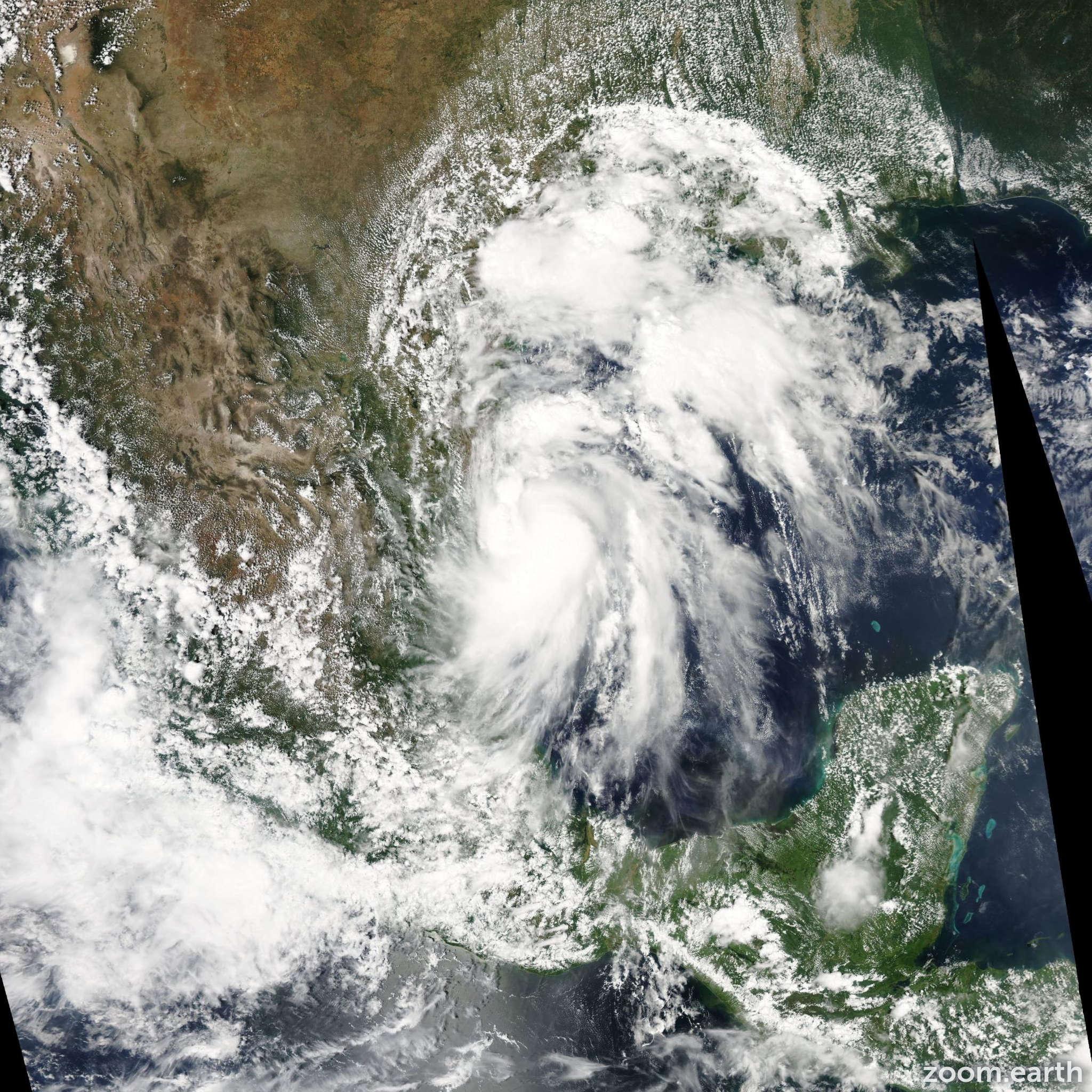 Satellite image of Storm Hermine 2010