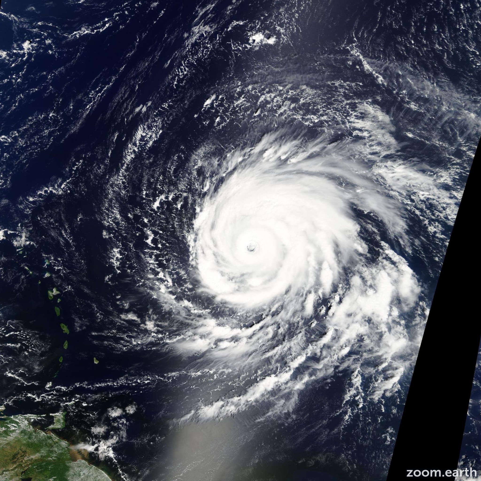 Satellite image of Hurricane Igor 2010