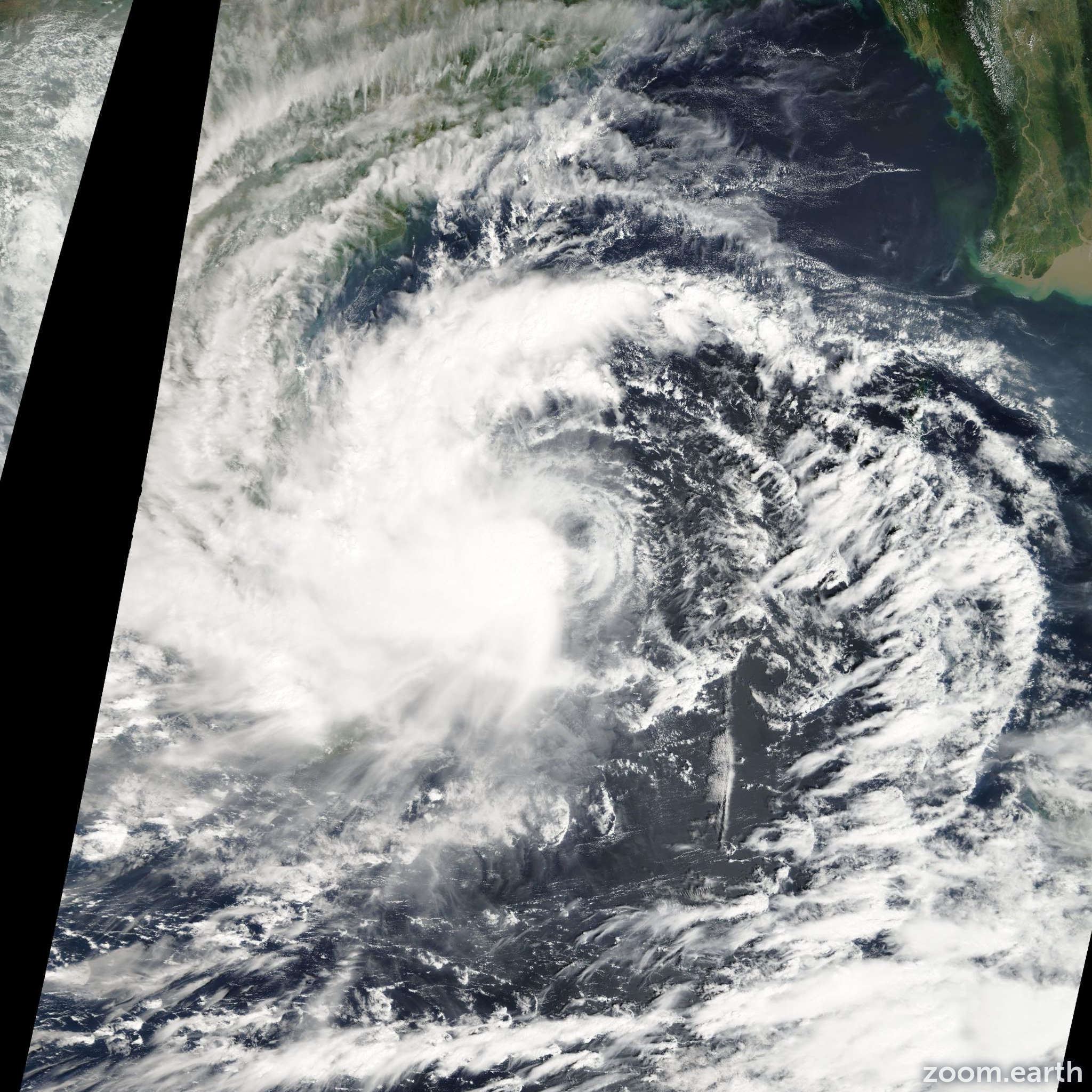 Satellite image of Cyclone Jal 2010