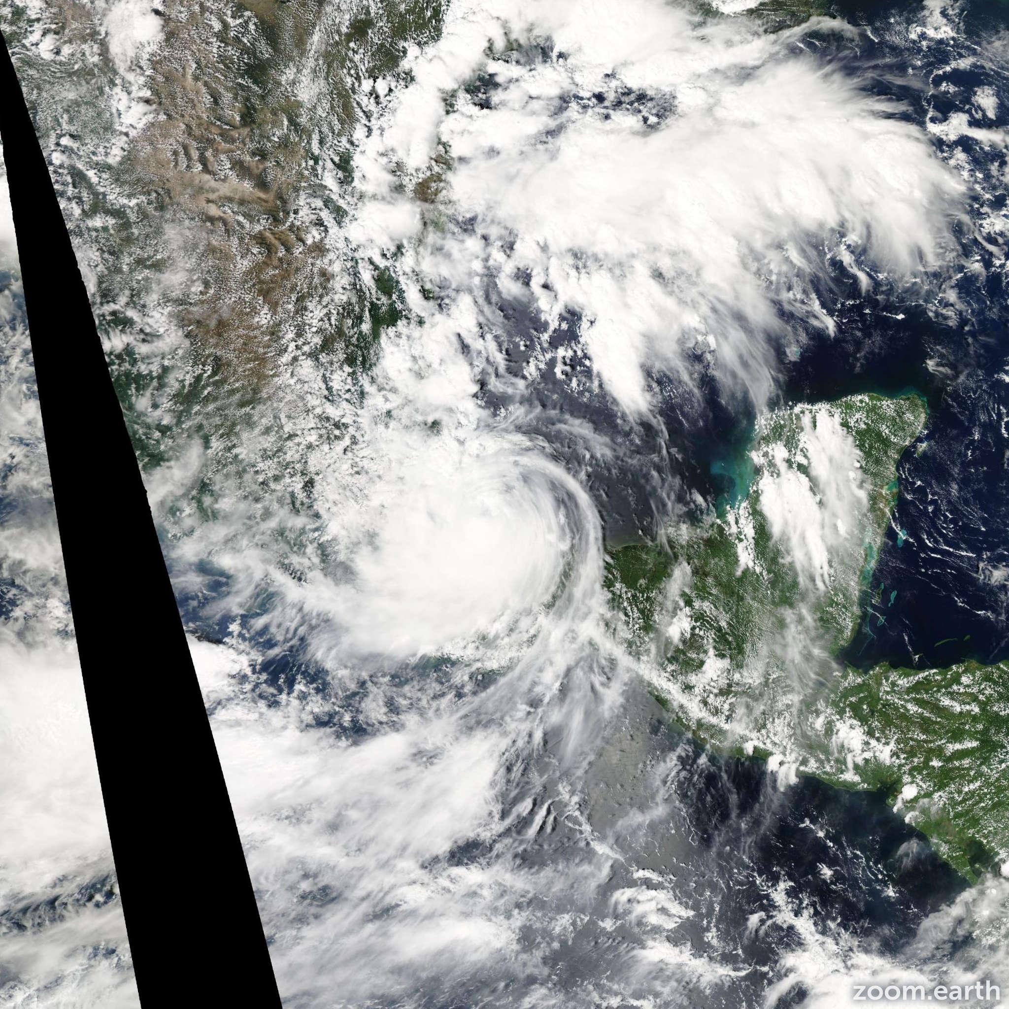 Satellite image of Hurricane Karl 2010
