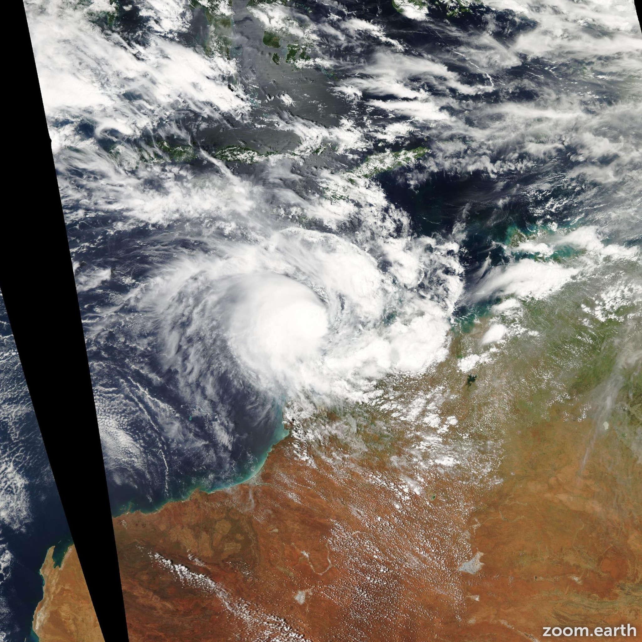 Satellite image of Cyclone Magda 2010