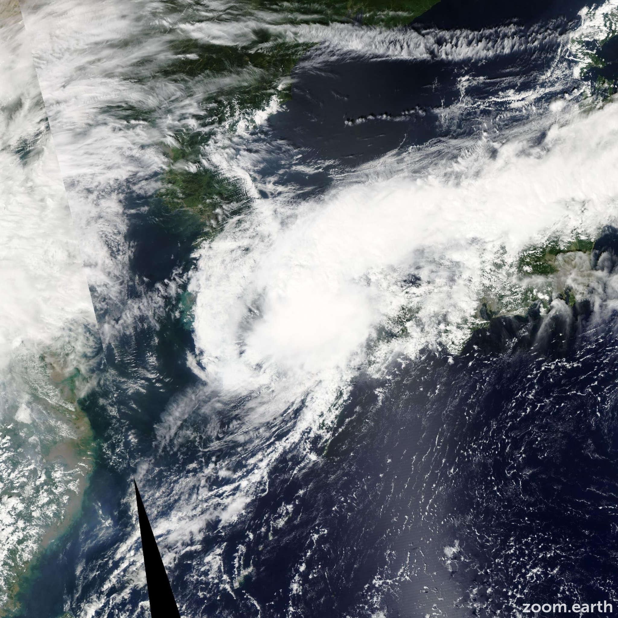 Satellite image of Storm Malou 2010