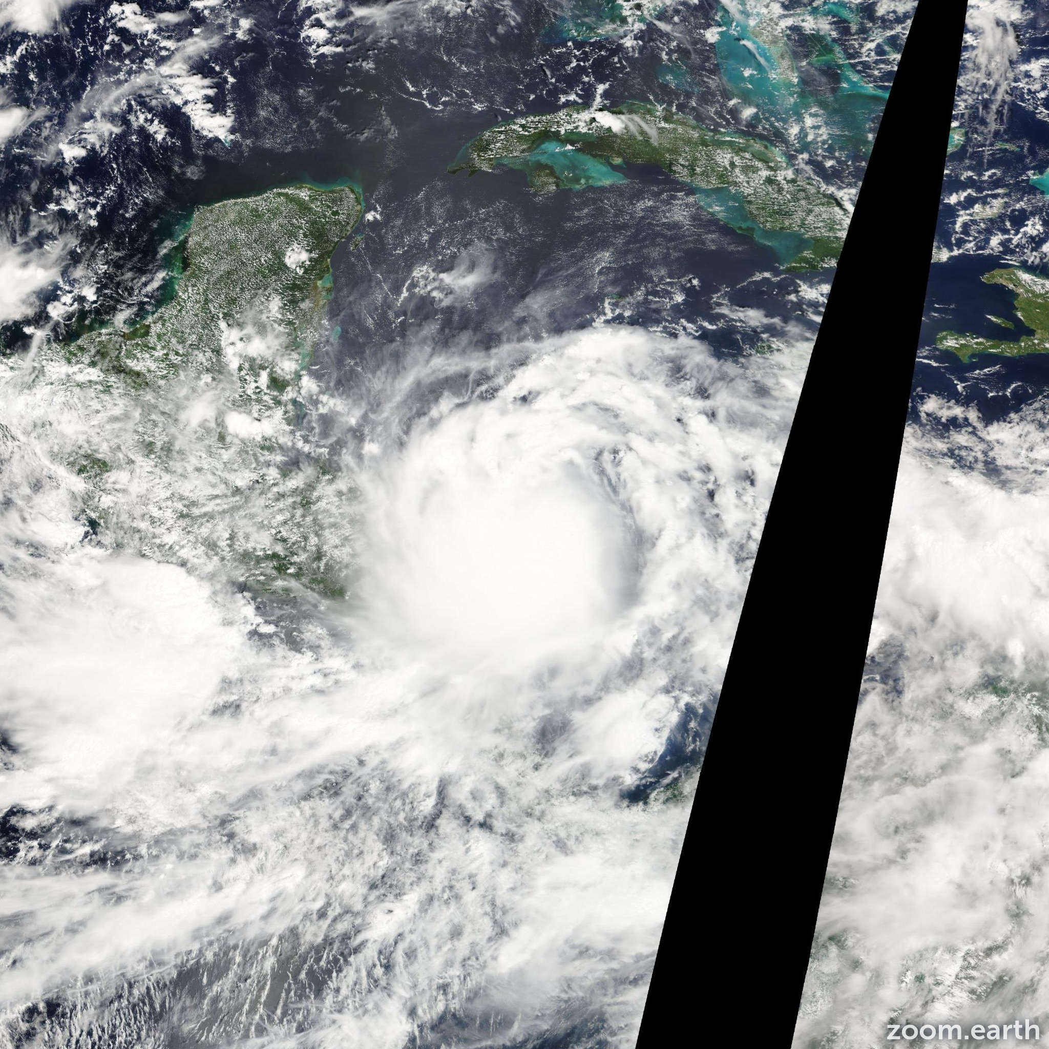 Satellite image of Storm Matthew 2010