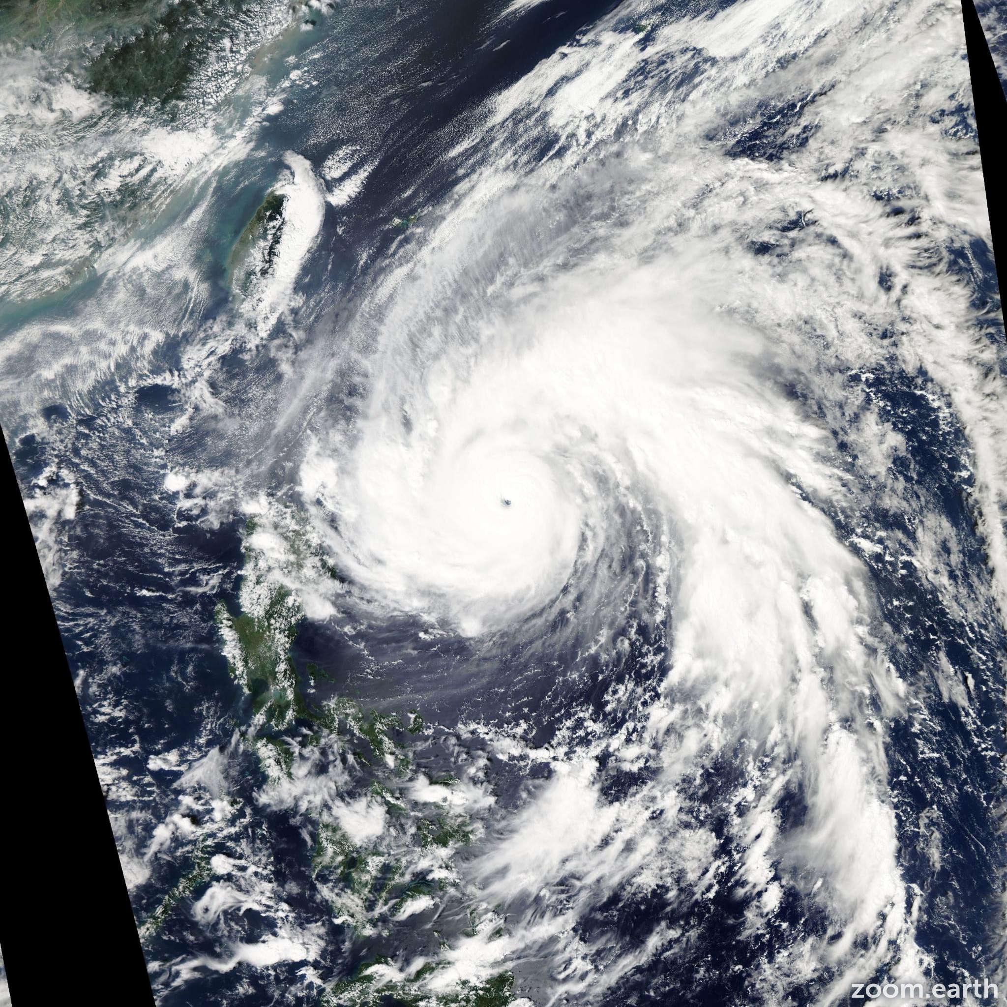 Satellite image of Typhoon Megi 2010