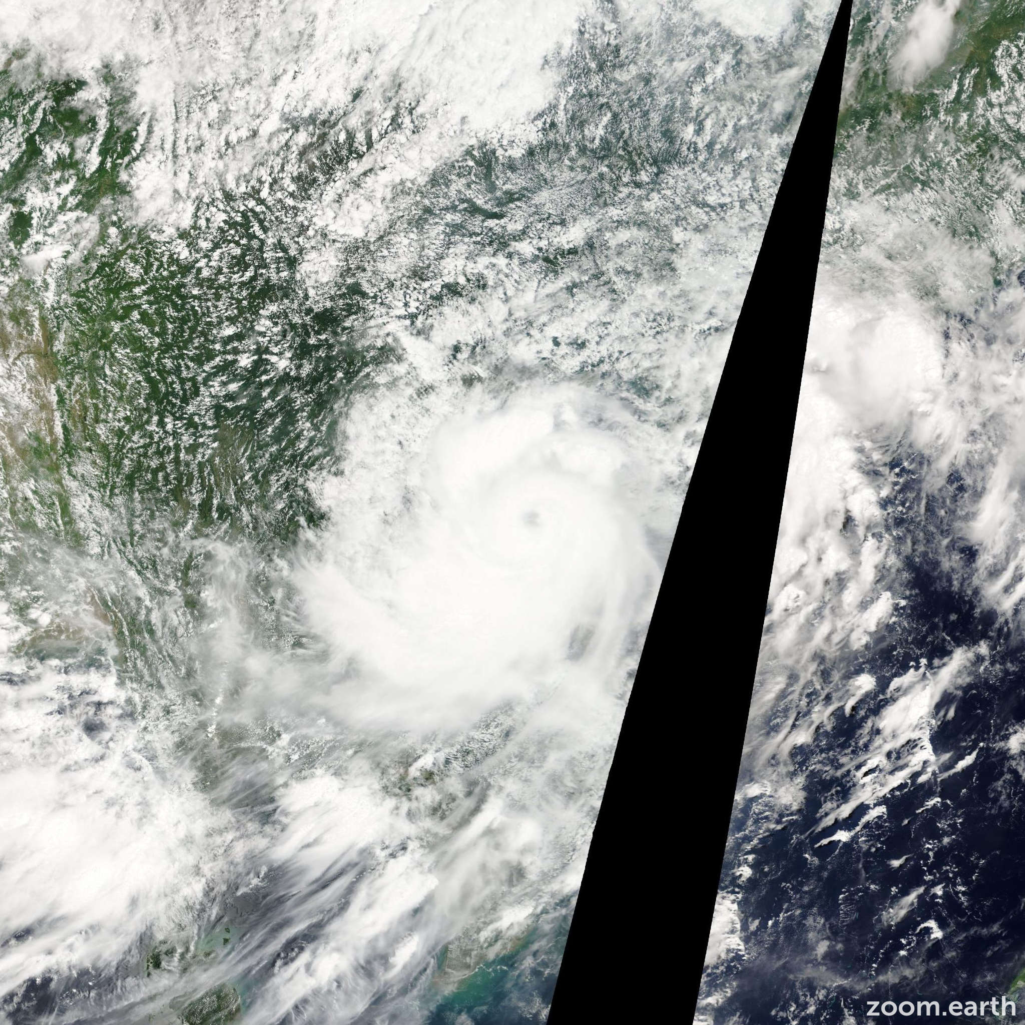 Satellite image of Storm Mindulle 2010