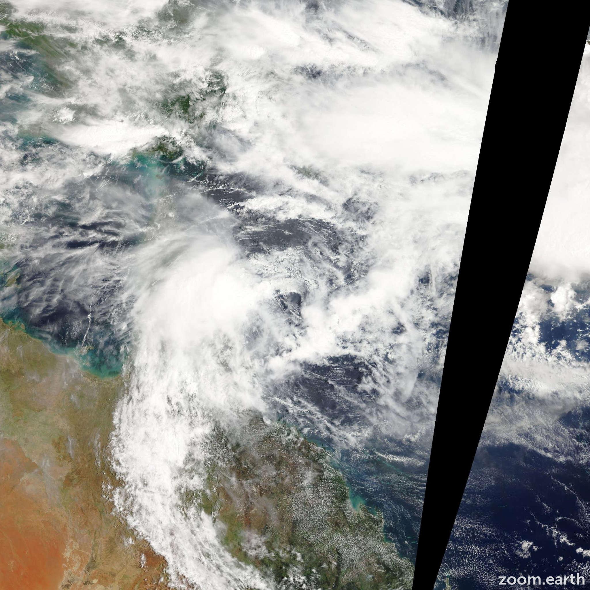 Satellite image of Cyclone Neville 2010