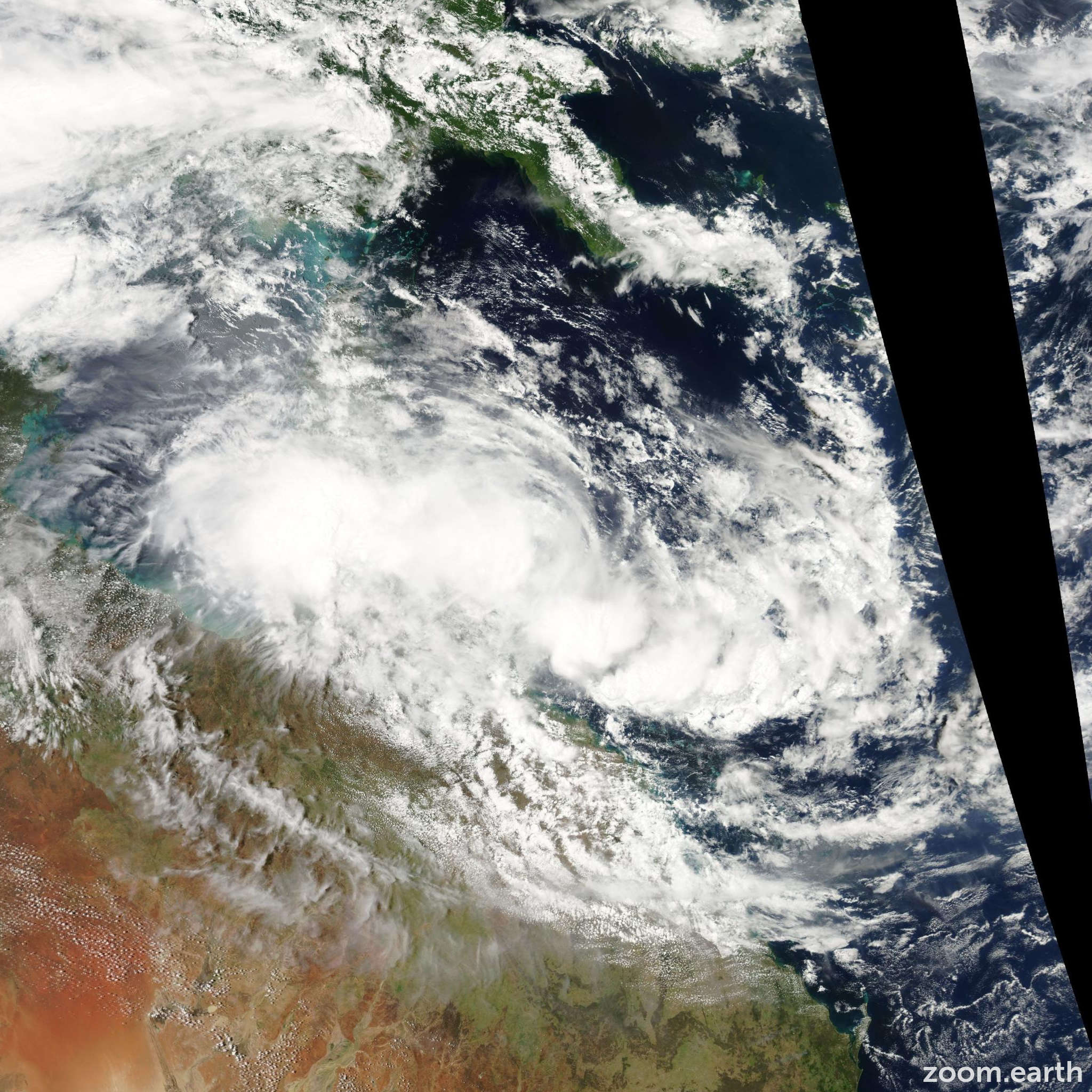 Satellite image of Cyclone Olga 2010