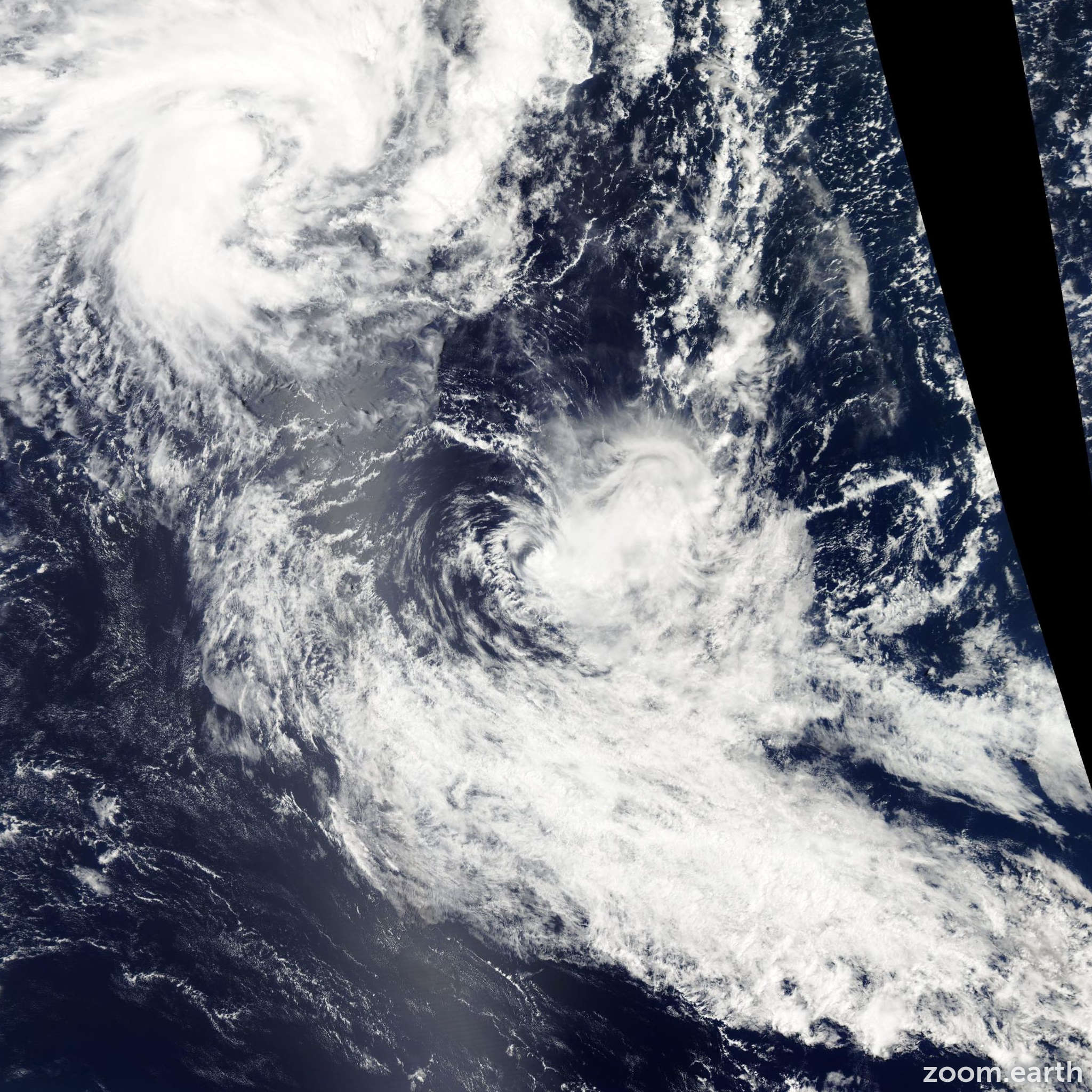 Satellite image of Cyclone Pat 2010