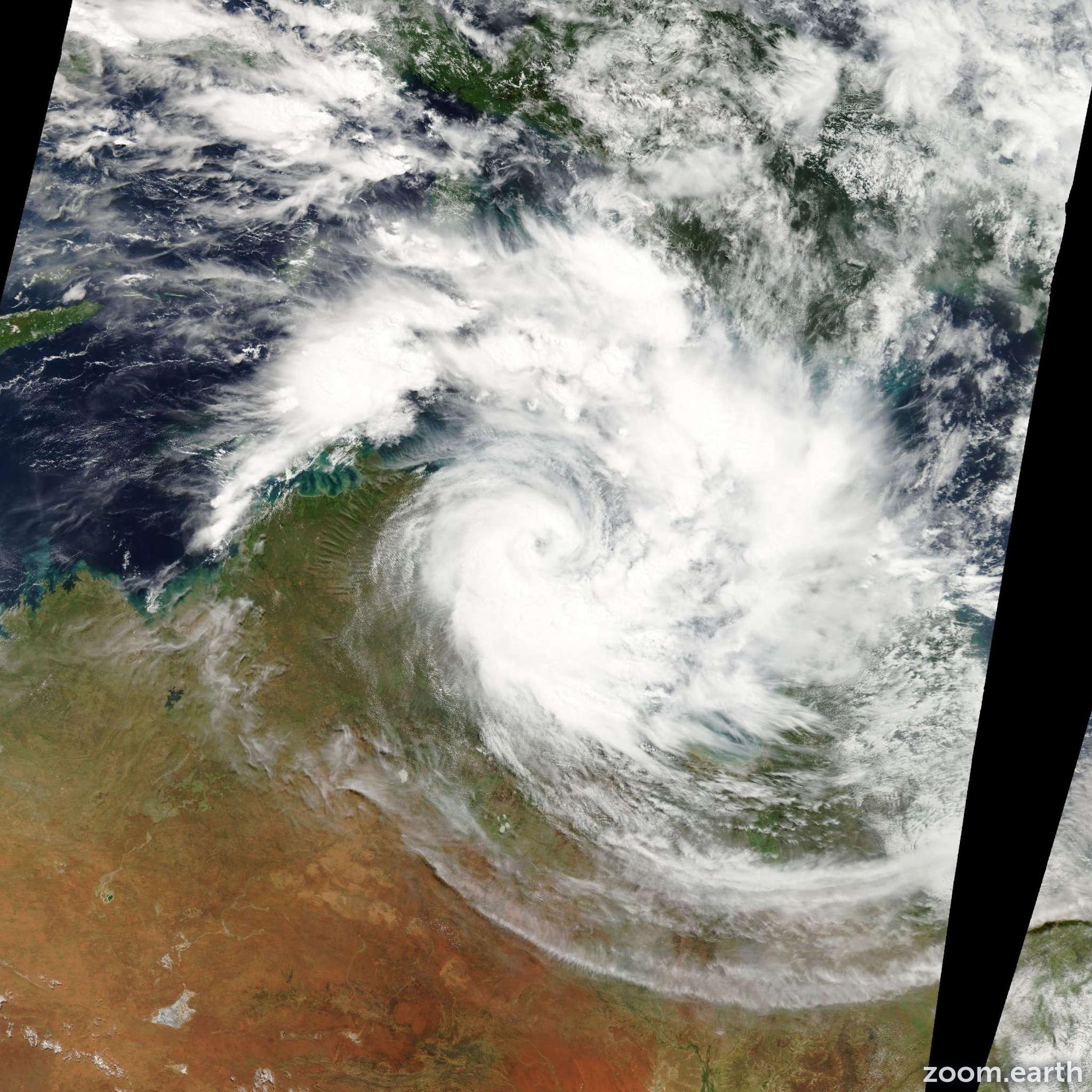 Satellite image of Cyclone Paul 2010