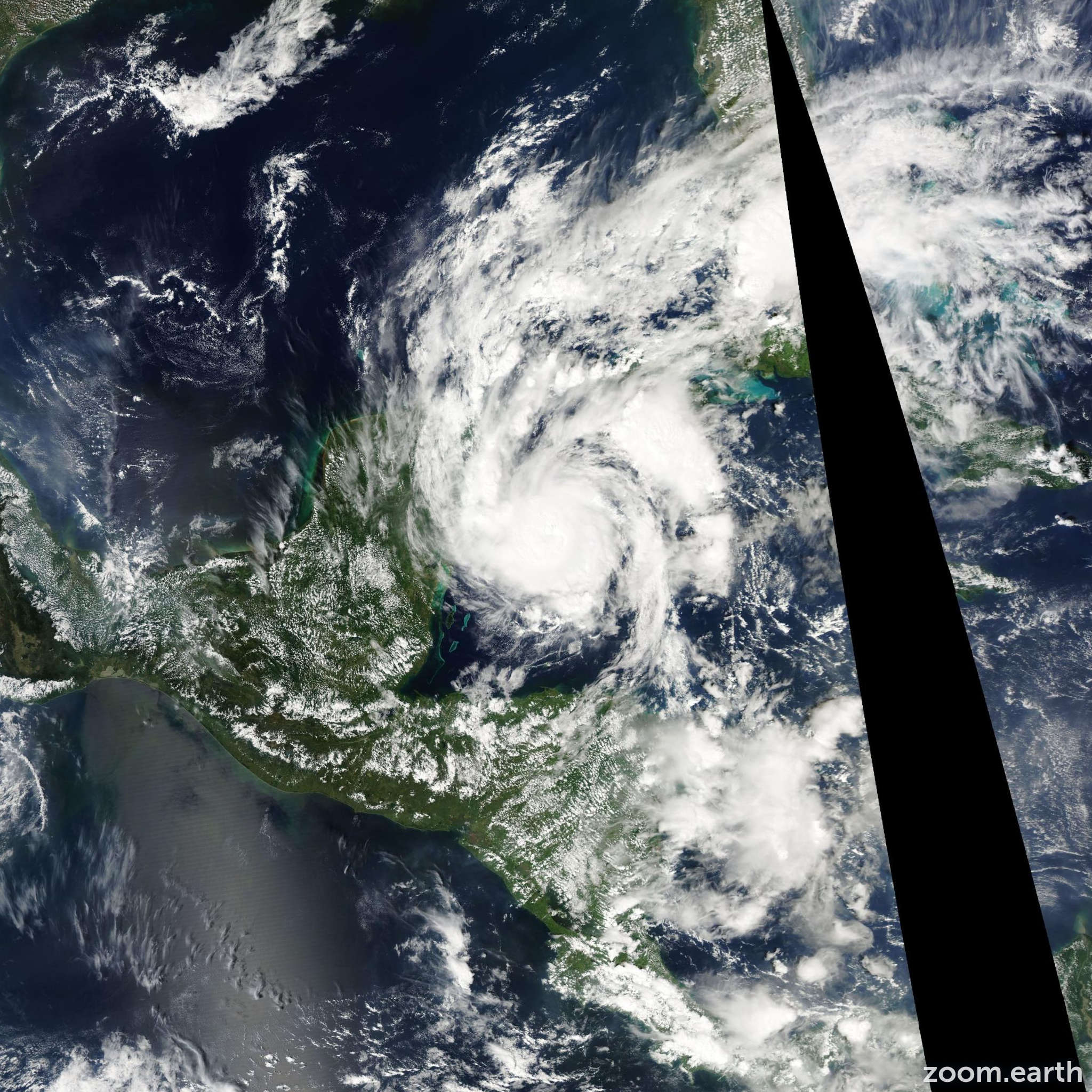 Satellite image of Hurricane Paula 2010