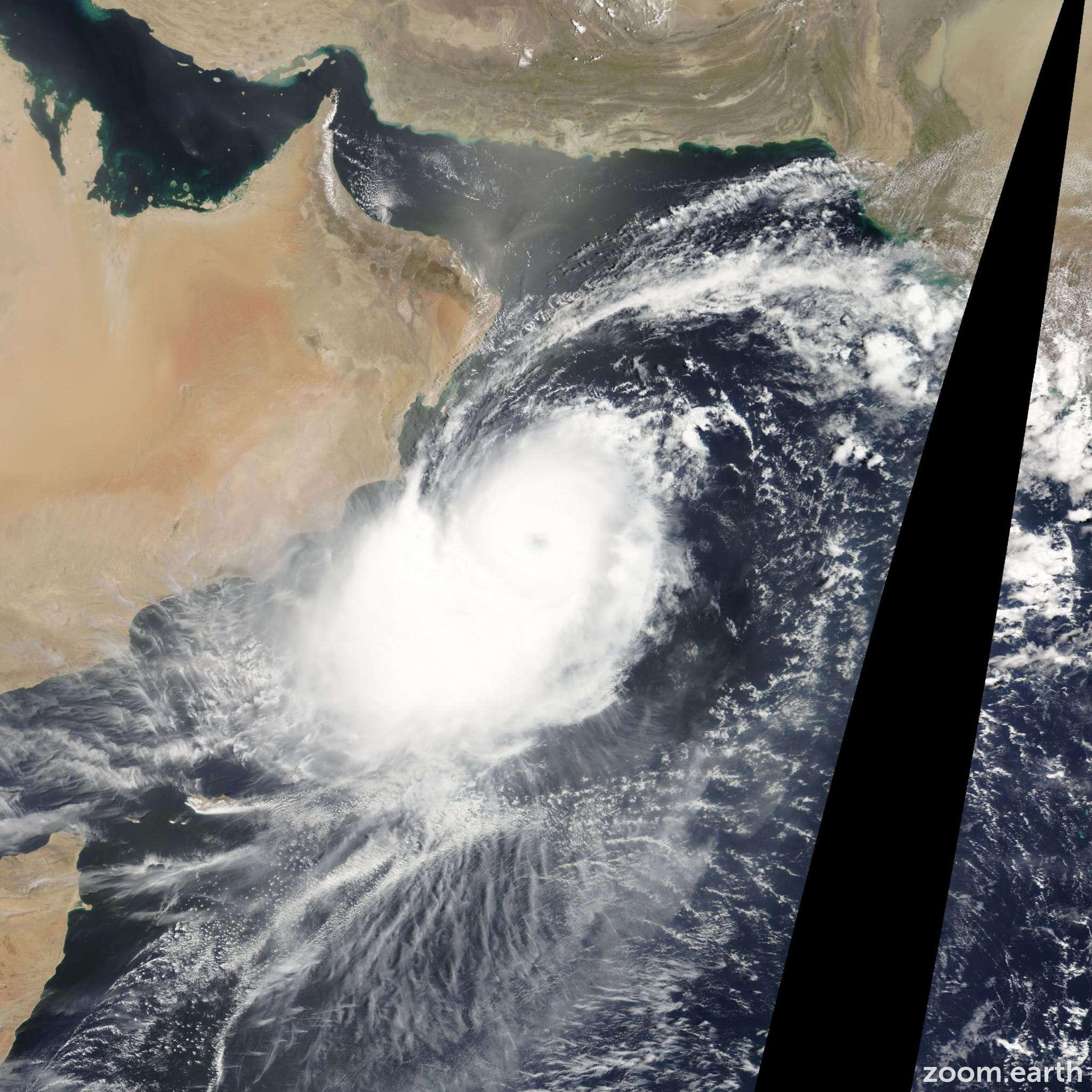 Satellite image of Cyclone Phet 2010