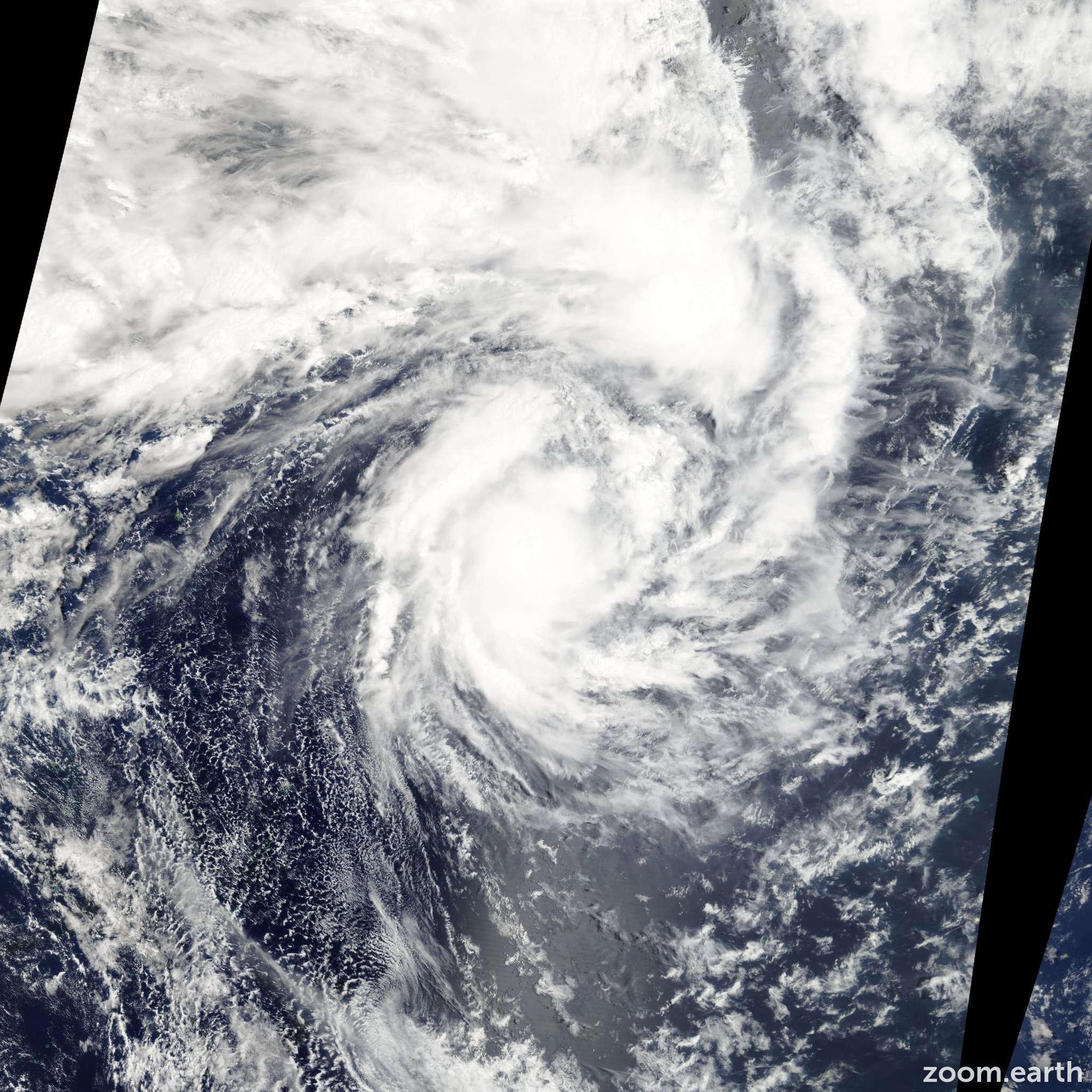 Satellite image of Cyclone Rene 2010