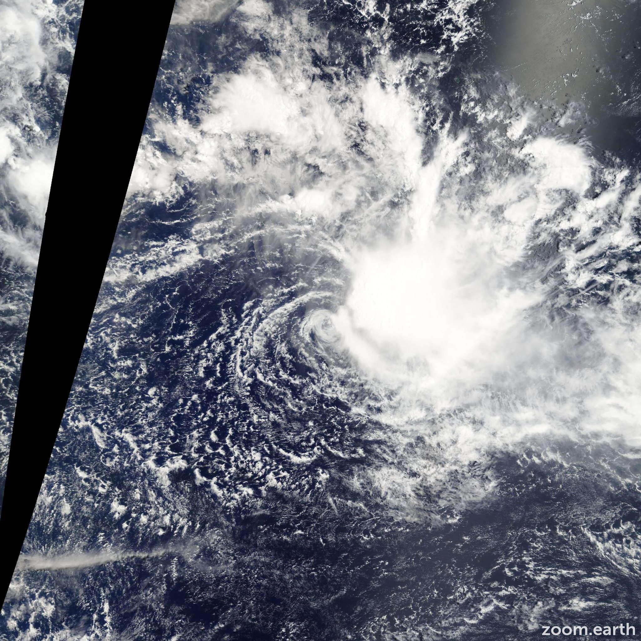 Satellite image of Cyclone Sarah 2010
