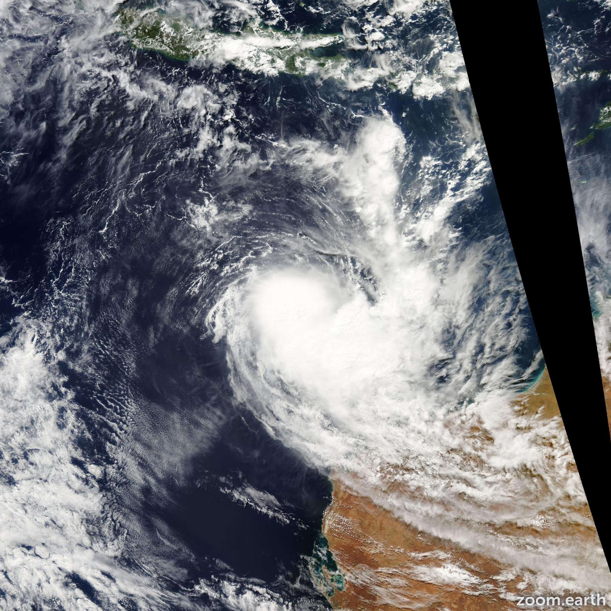 Satellite image of Cyclone Sean 2010