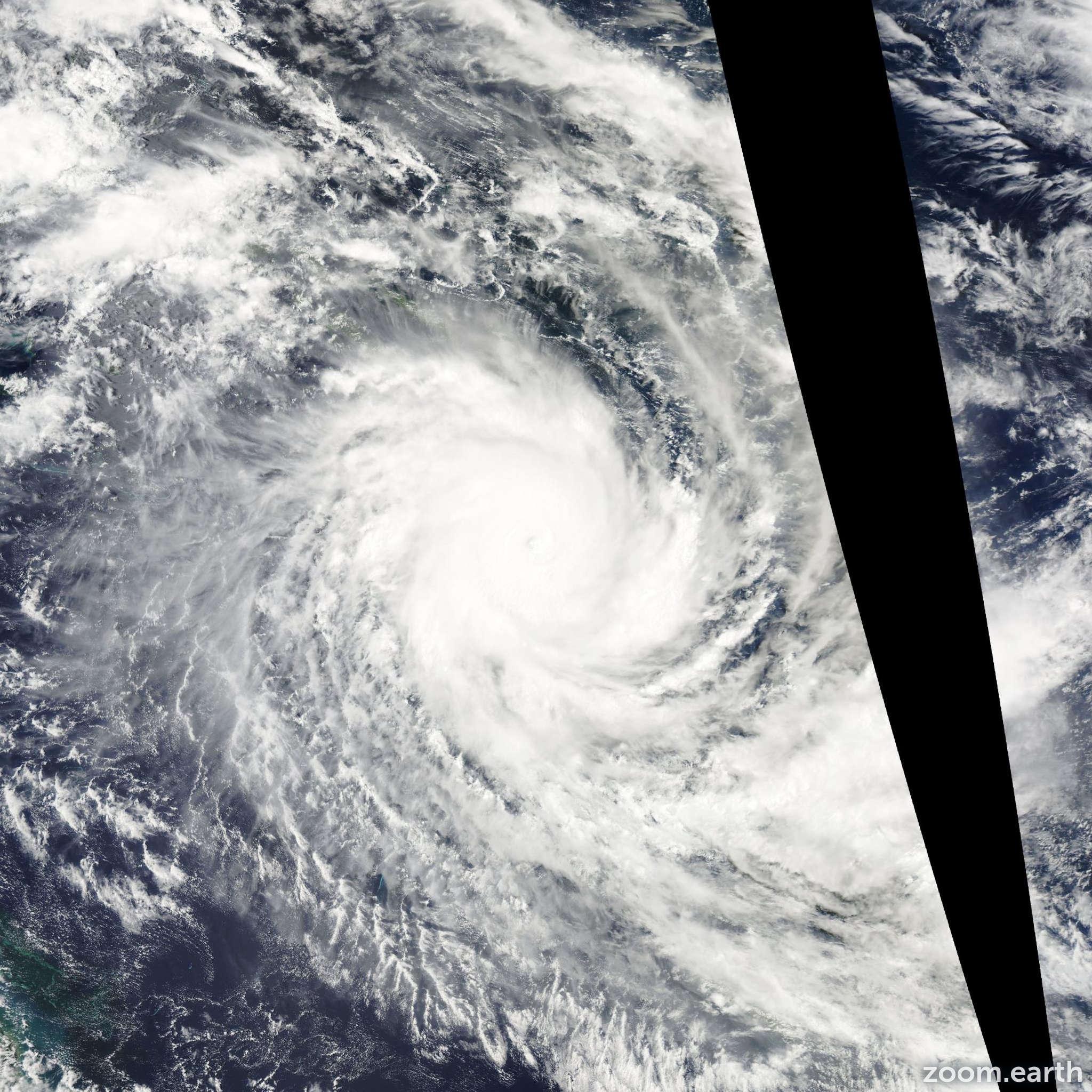 Satellite image of Cyclone Ului 2010