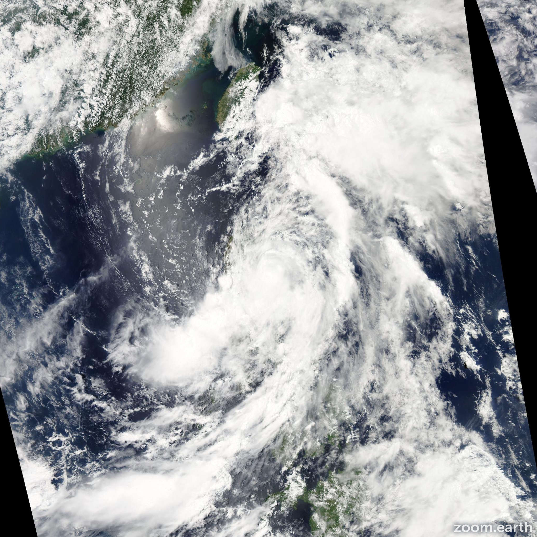 Satellite image of Storm Aere 2011