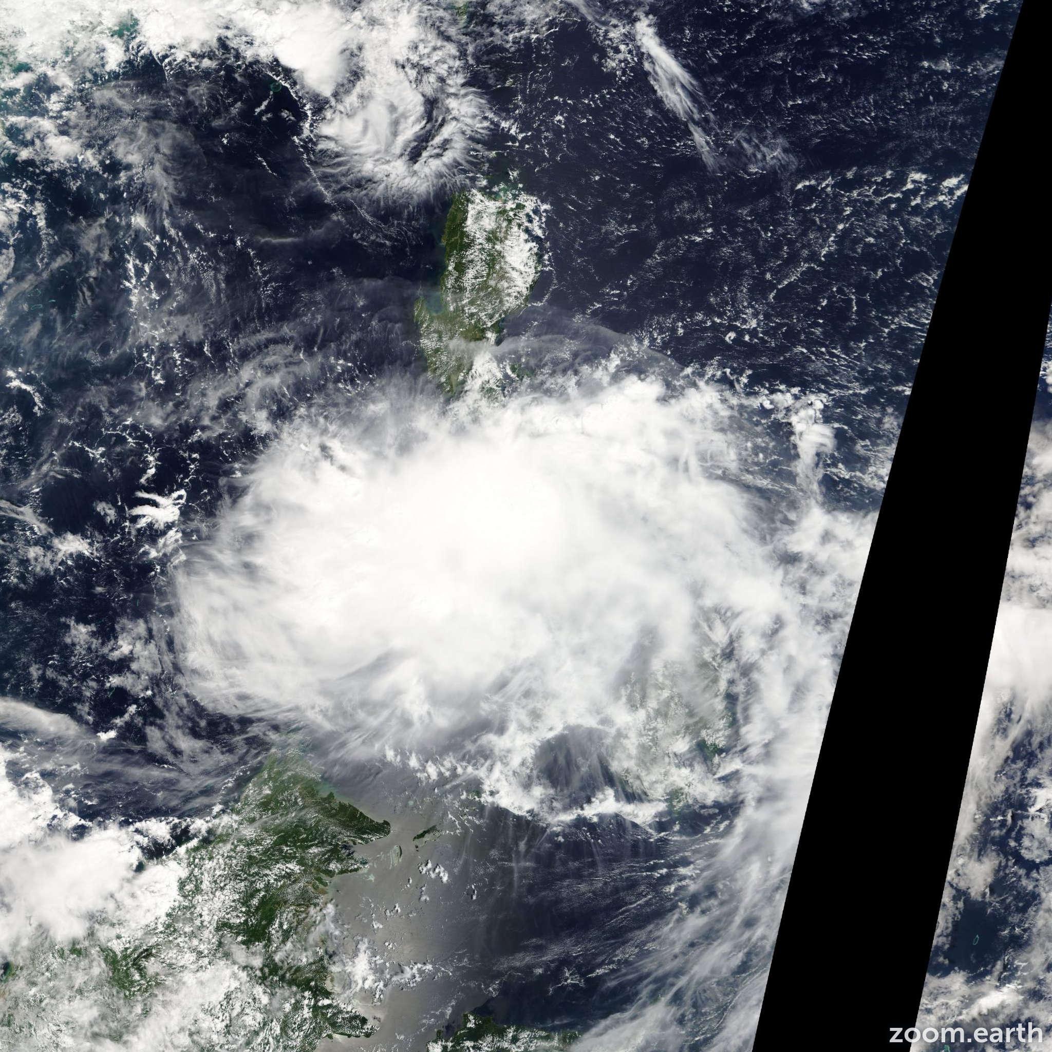 Satellite image of Depression Banyan 2011