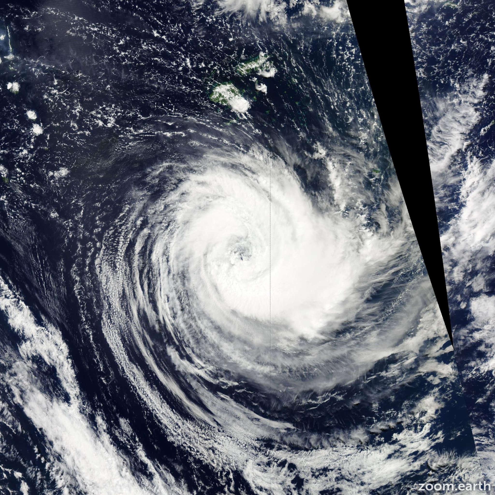 Satellite image of Cyclone Bune 2011