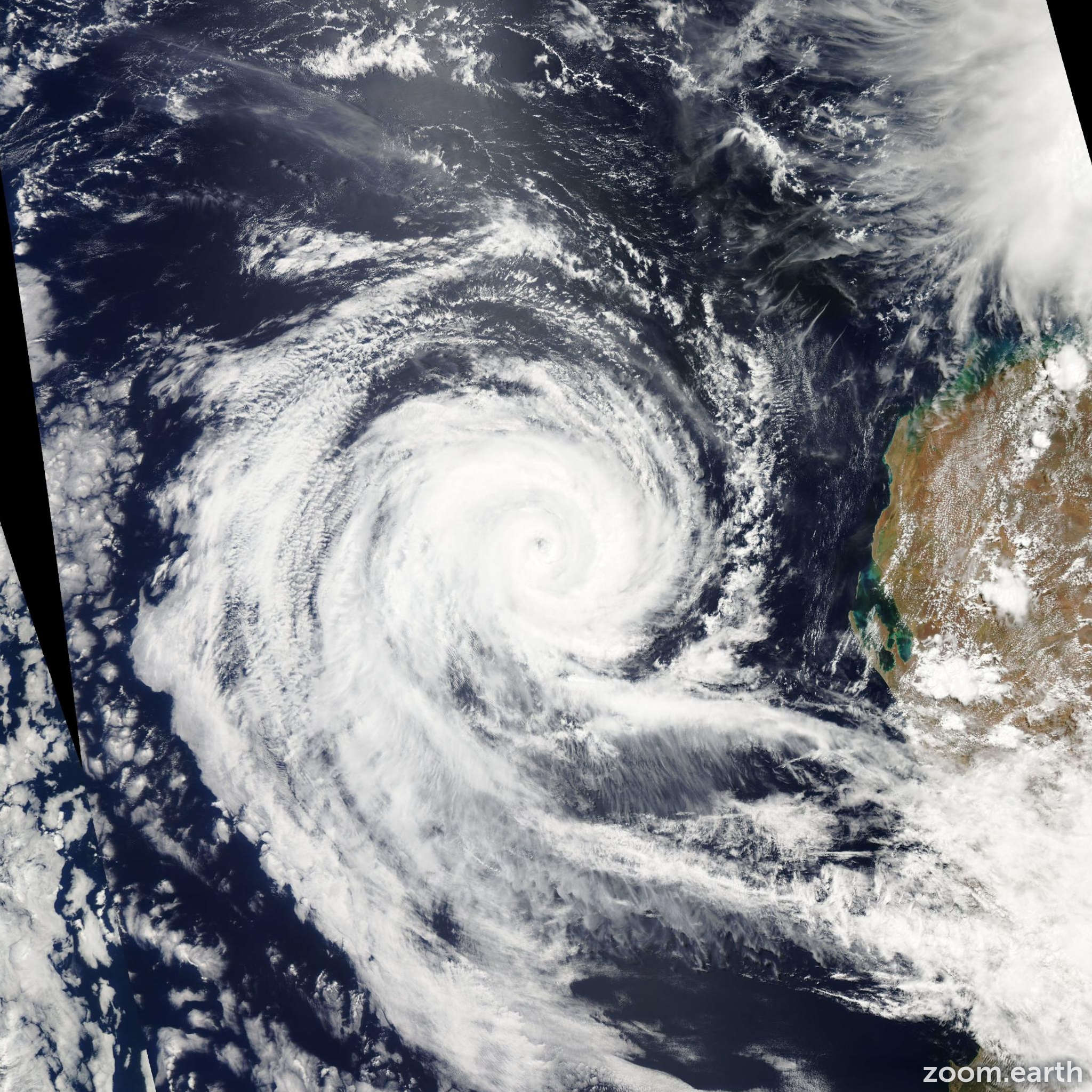 Satellite image of Cyclone Dianne 2011
