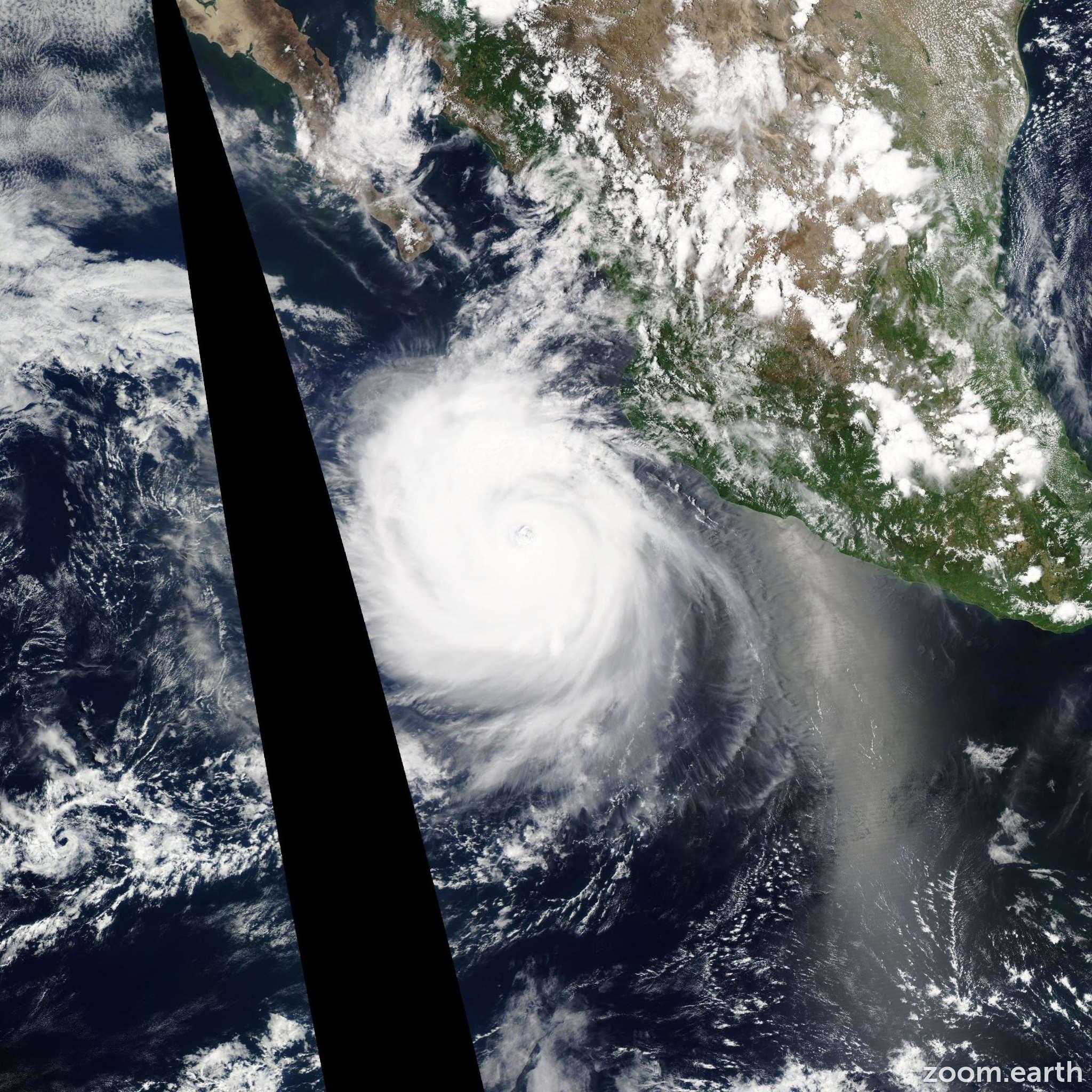 Satellite image of Hurricane Dora 2011