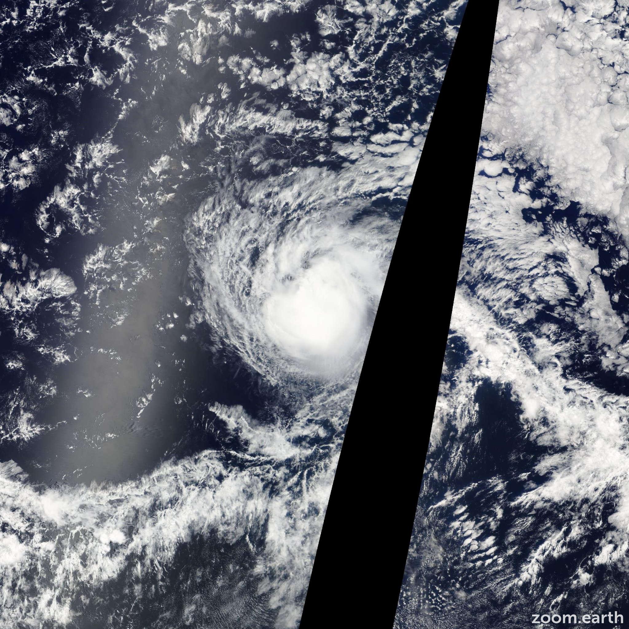 Satellite image of Storm Fernanda 2011