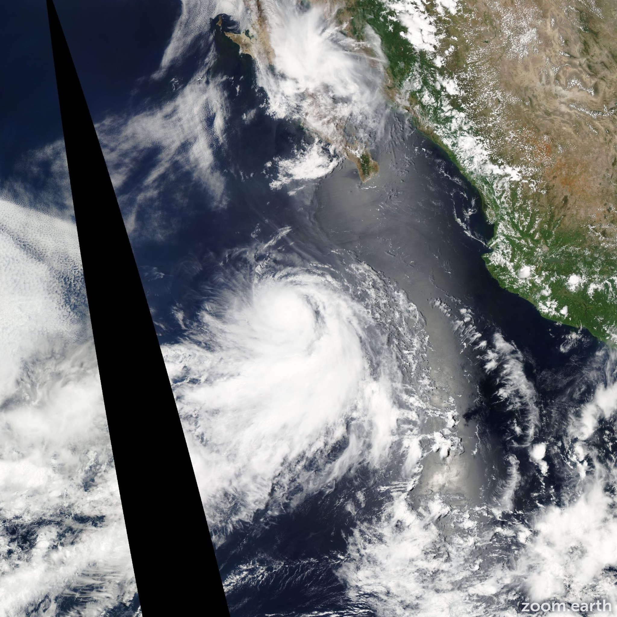 Satellite image of Hurricane Greg 2011