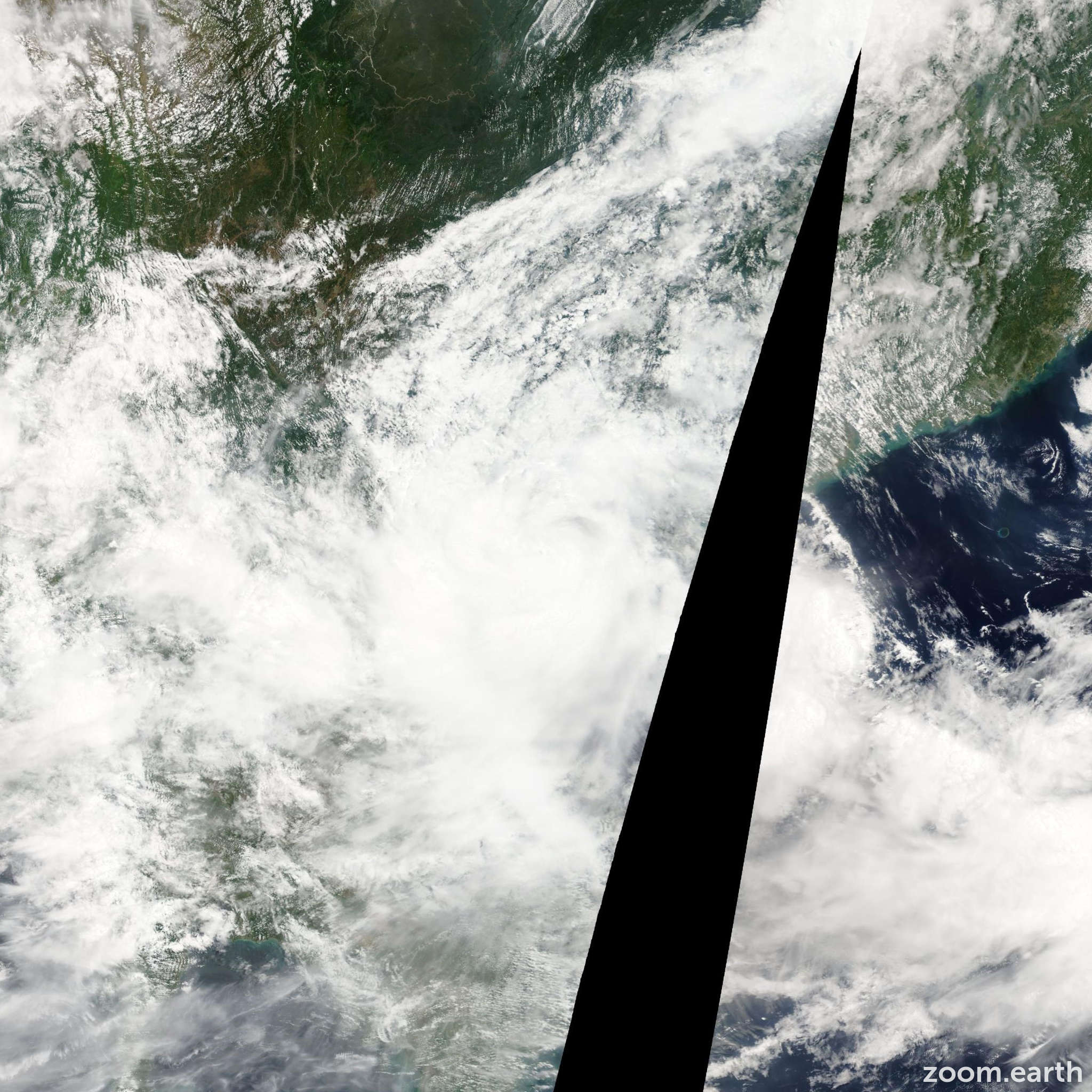 Satellite image of Storm Haima 2011