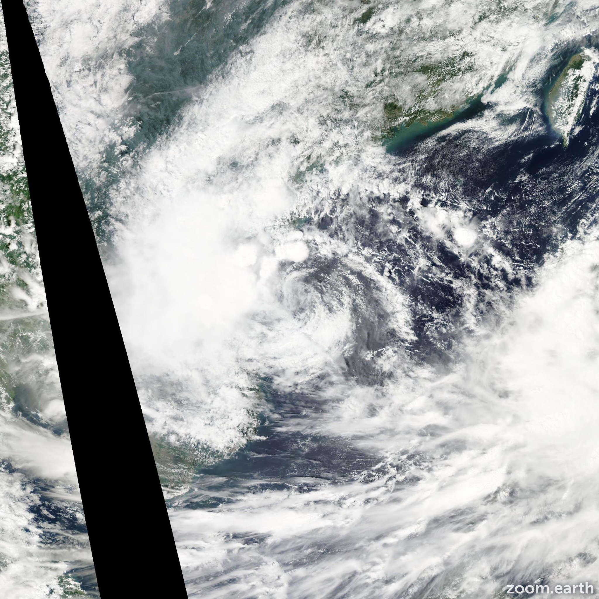Satellite image of Storm Haitang 2011