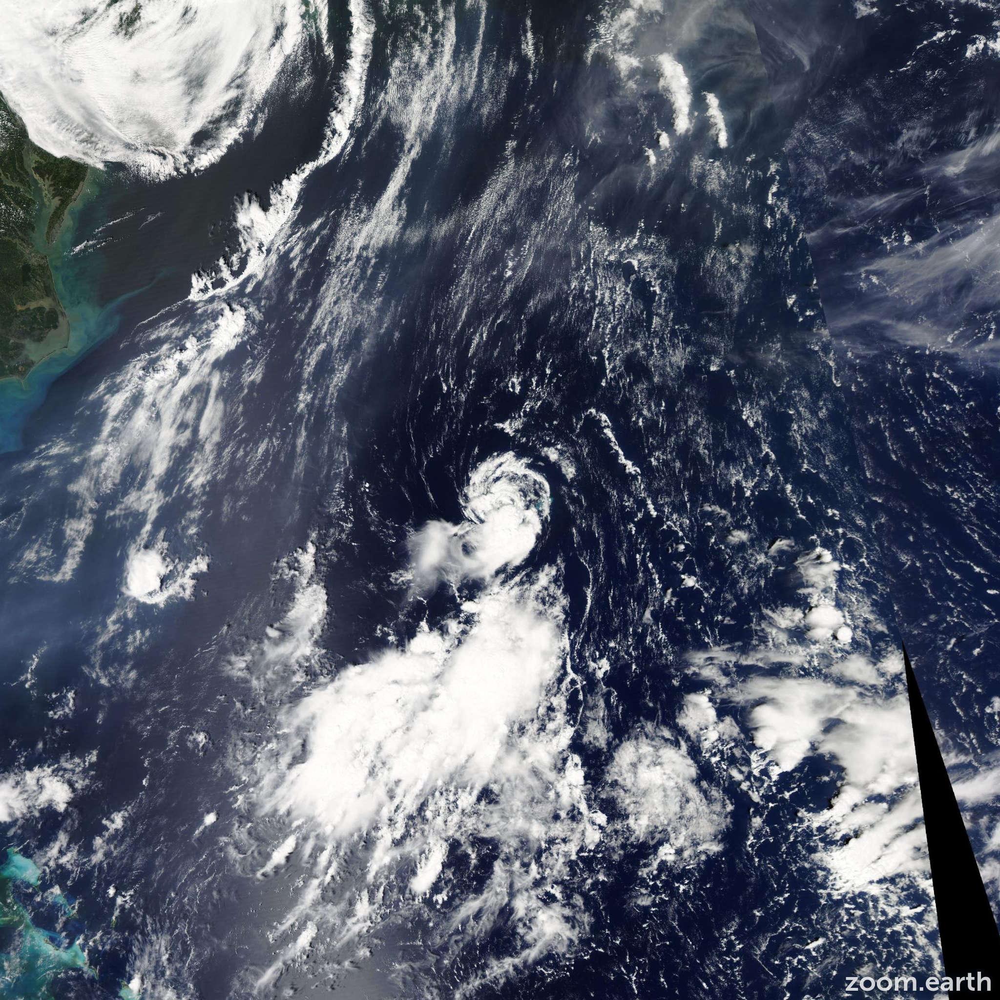 Satellite image of Storm Jose 2011