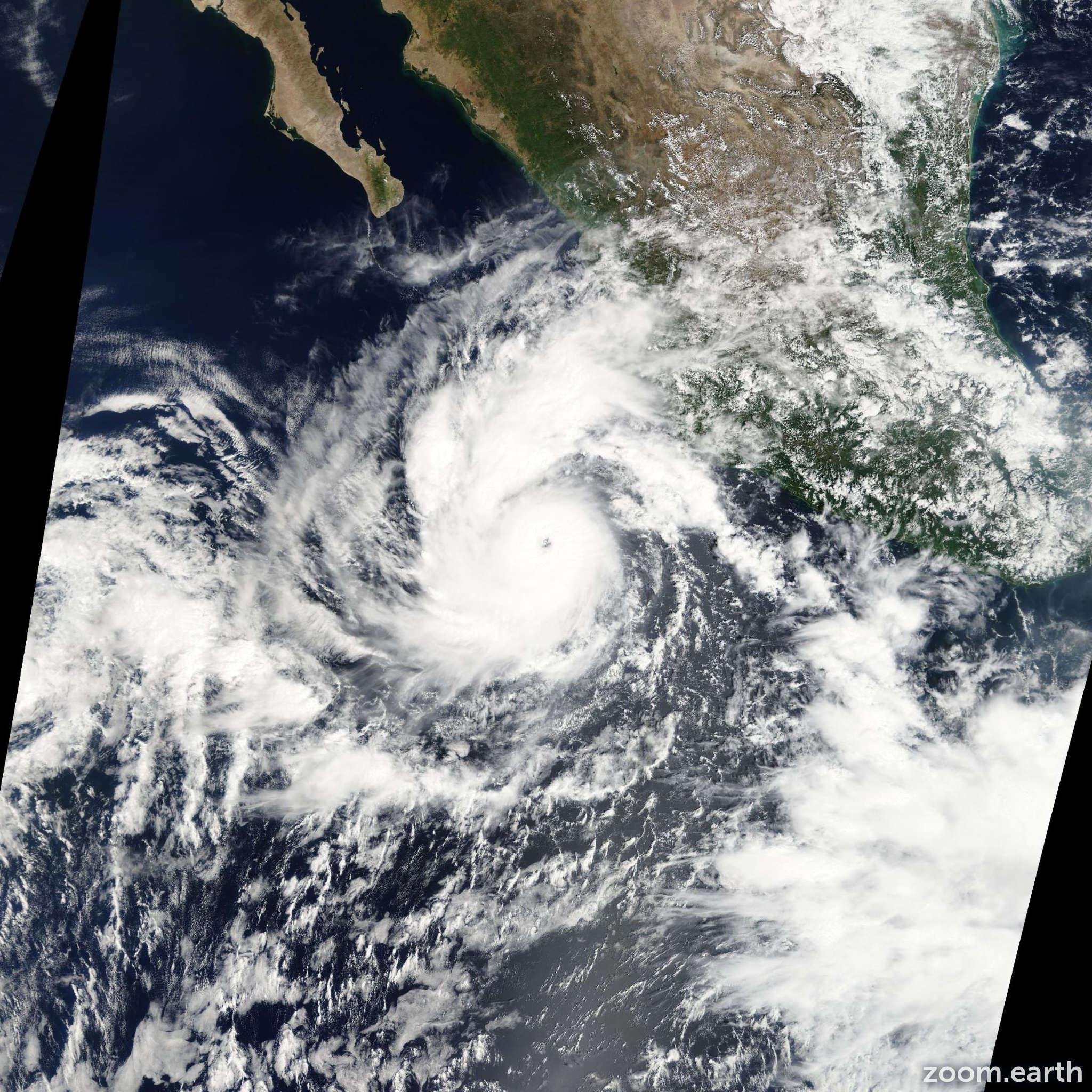 Satellite image of Hurricane Jova 2011