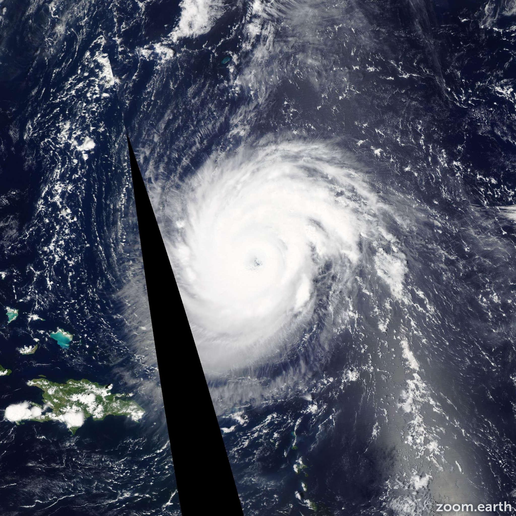 Satellite image of Hurricane Katia 2011