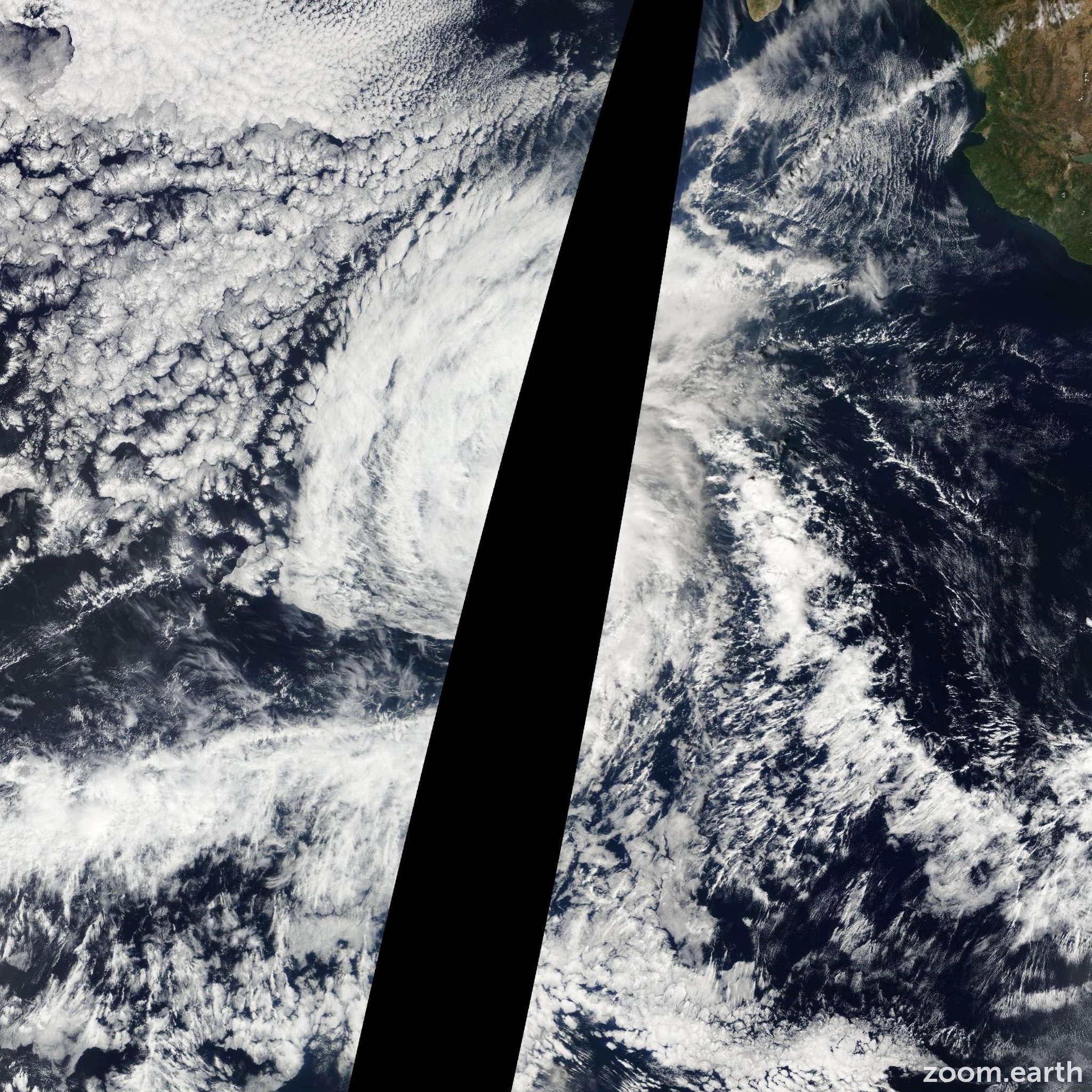 Satellite image of Hurricane Kenneth 2011