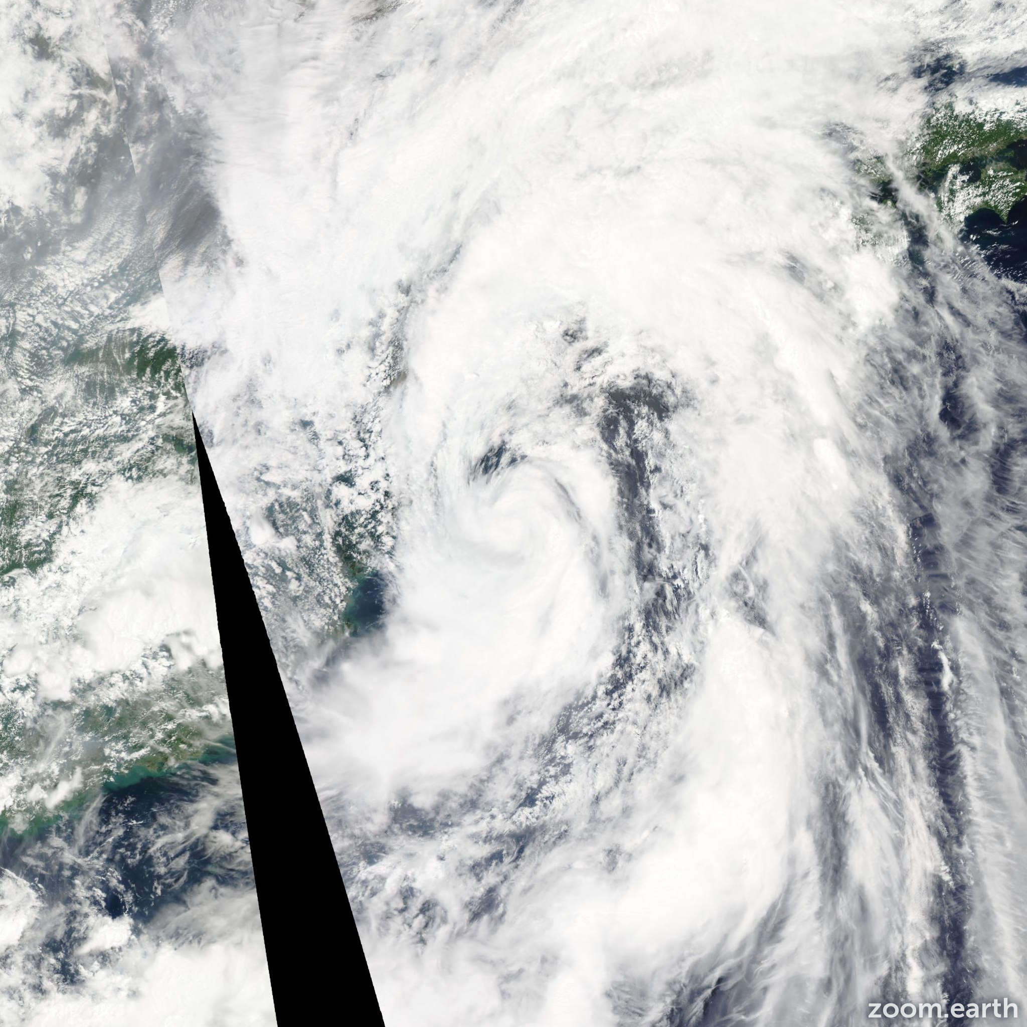 Satellite image of Storm Meari 2011