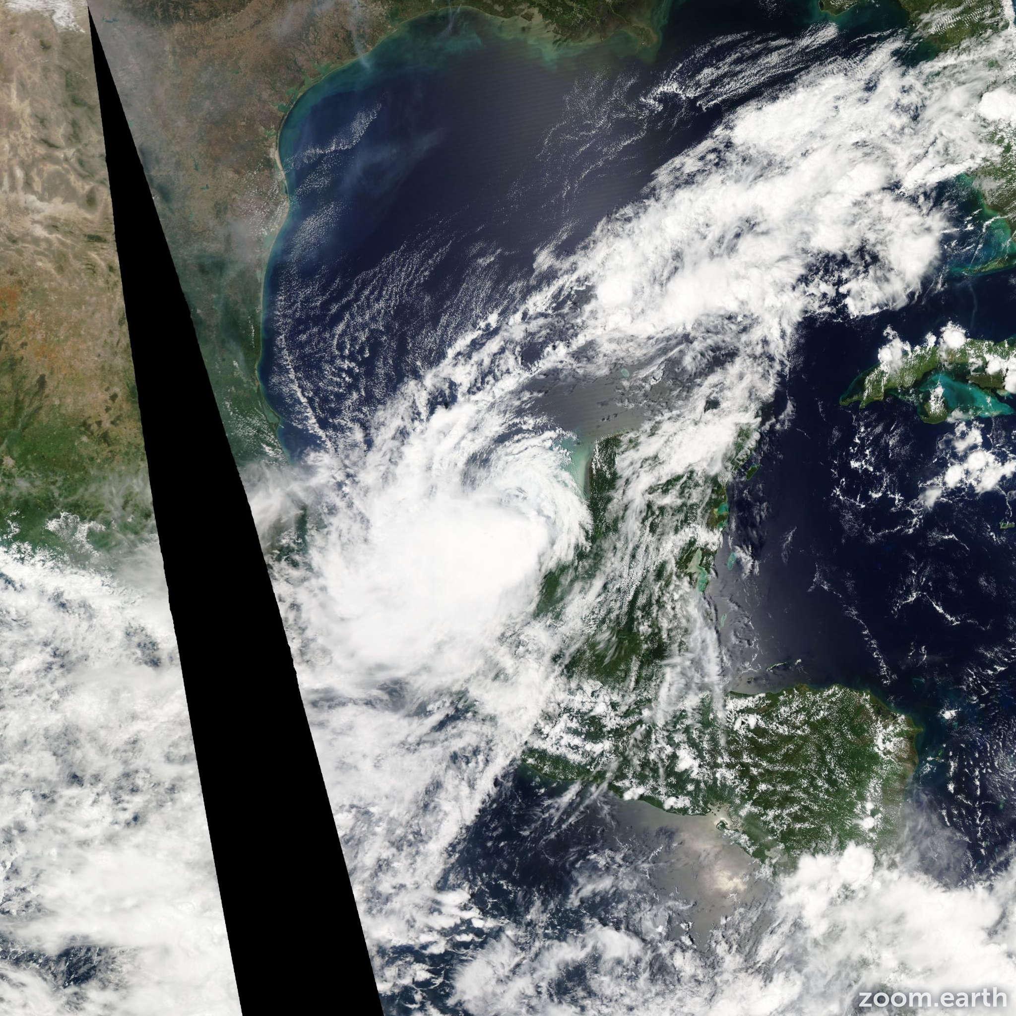 Satellite image of Hurricane Nate 2011