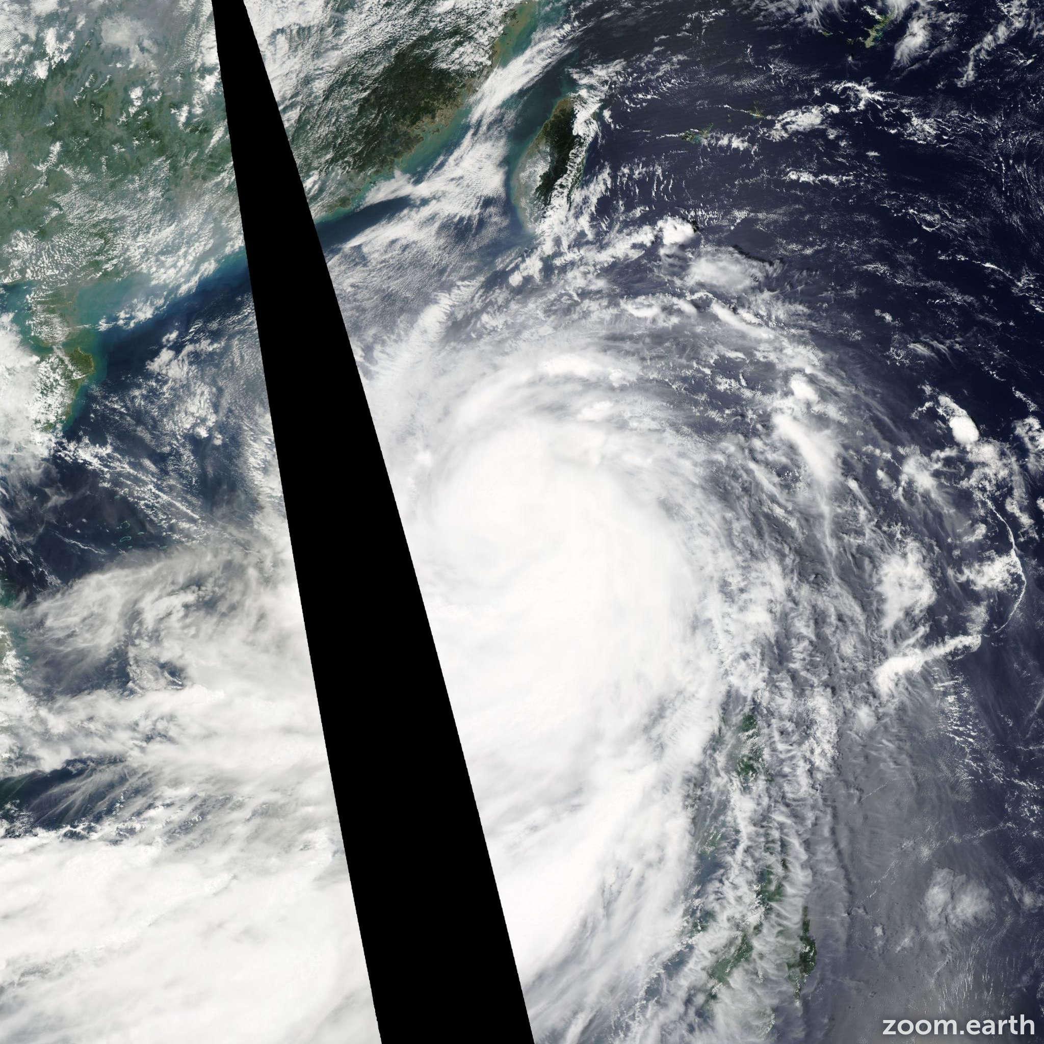 Satellite image of Typhoon Nesat 2011