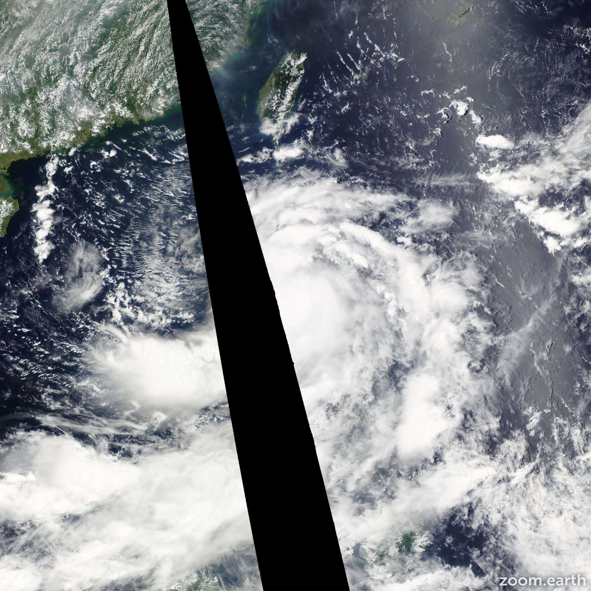 Satellite image of Storm Nock-Ten 2011