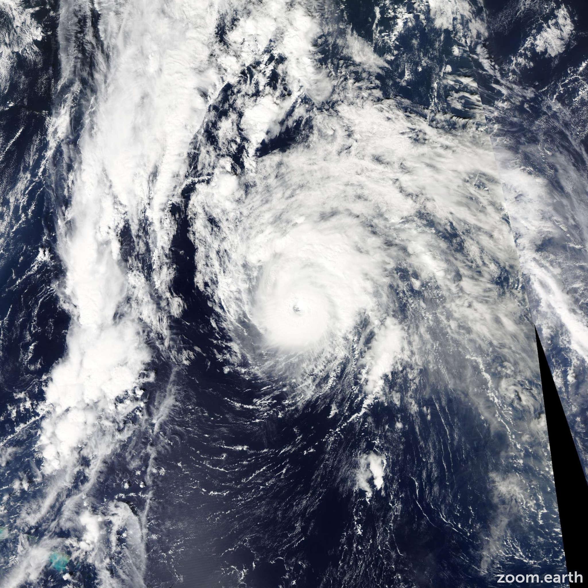 Satellite image of Hurricane Ophelia 2011
