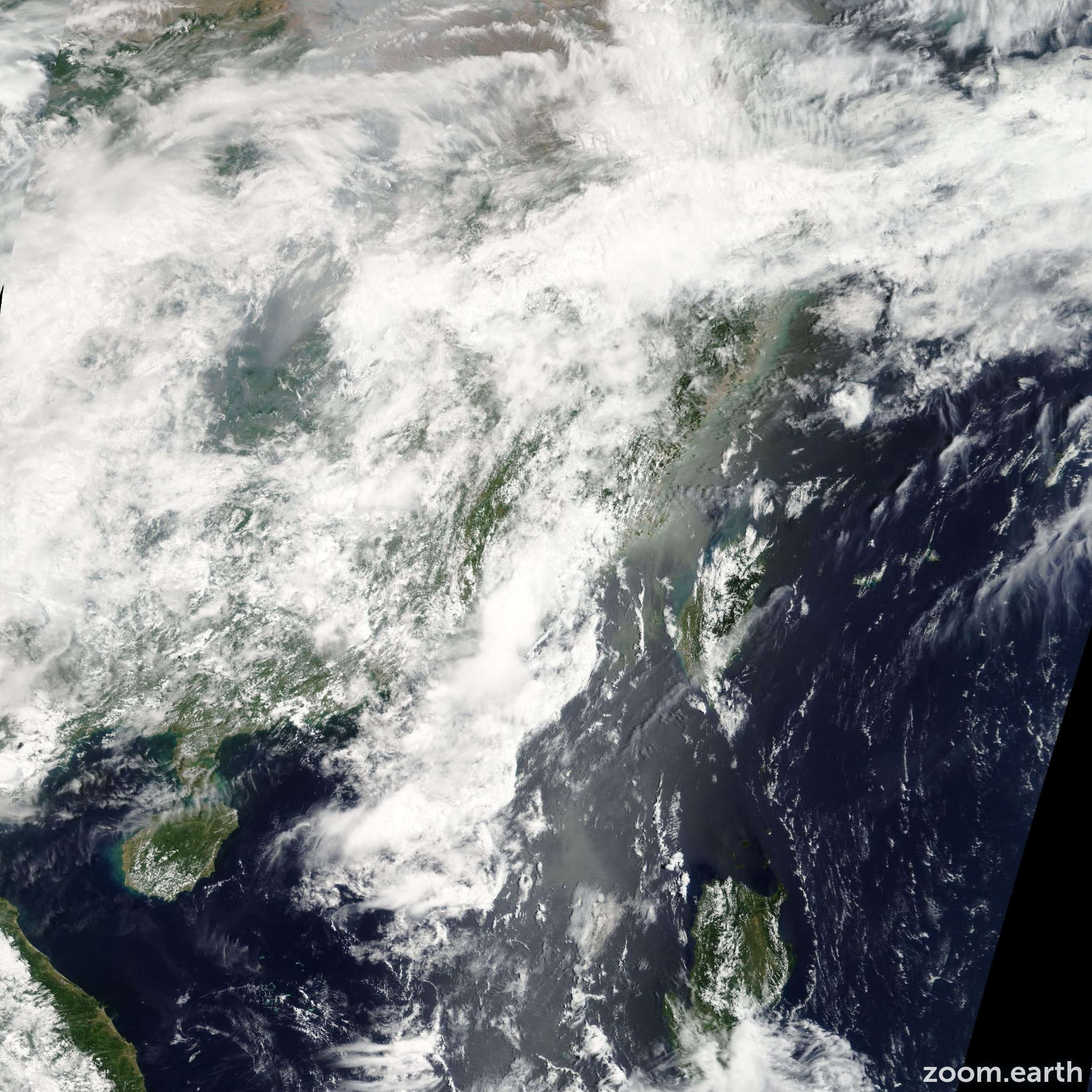 Satellite image of Depression Sarika 2011