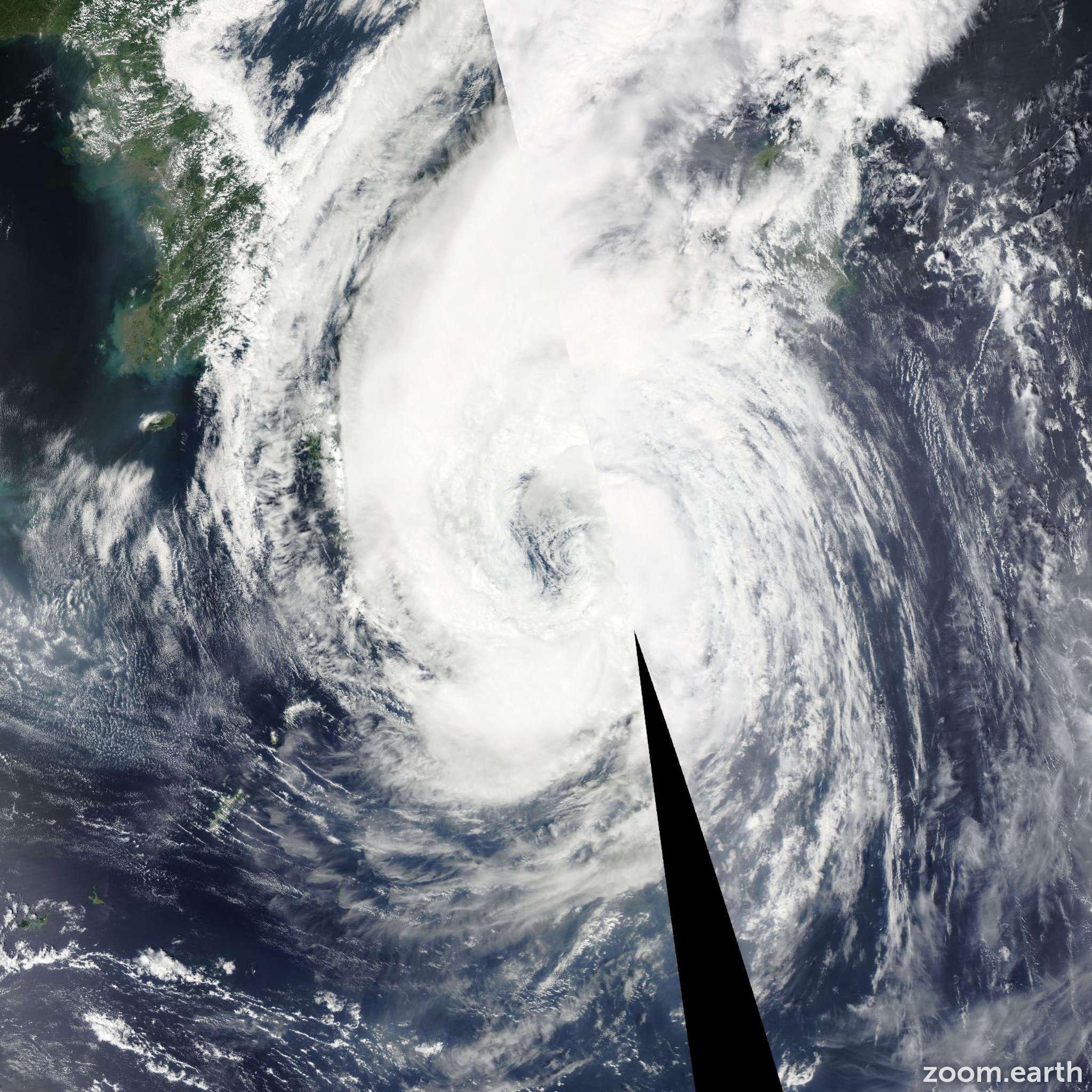 Satellite image of Storm Talas 2011