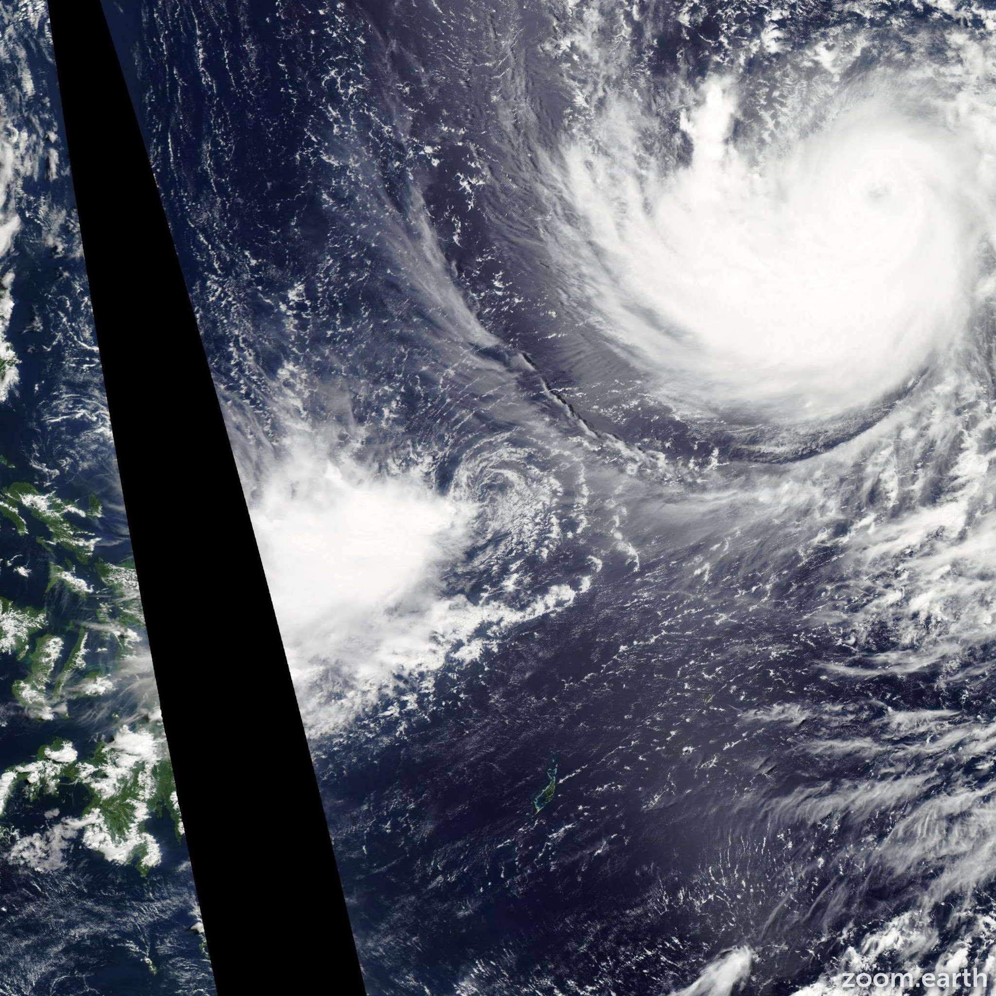 Satellite image of Depression Tokage 2011