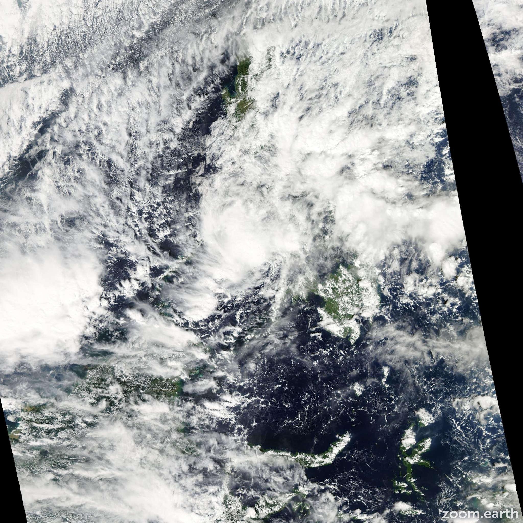 Satellite image of Storm Washi 2011