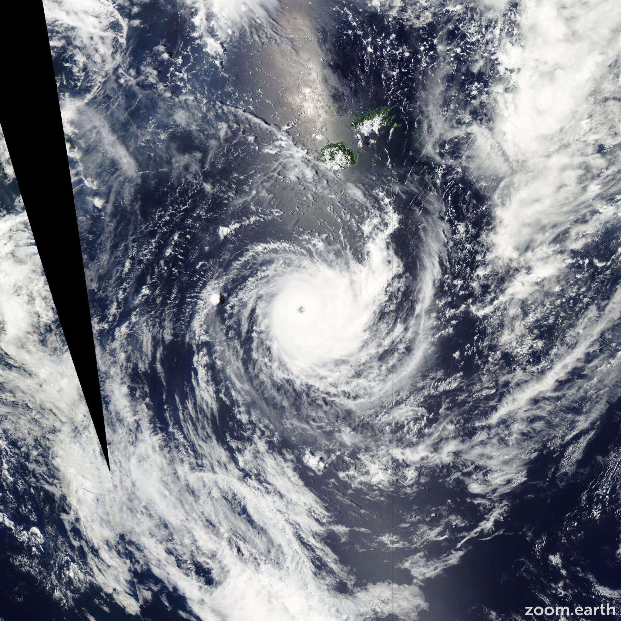 Satellite image of Cyclone Wilma 2011