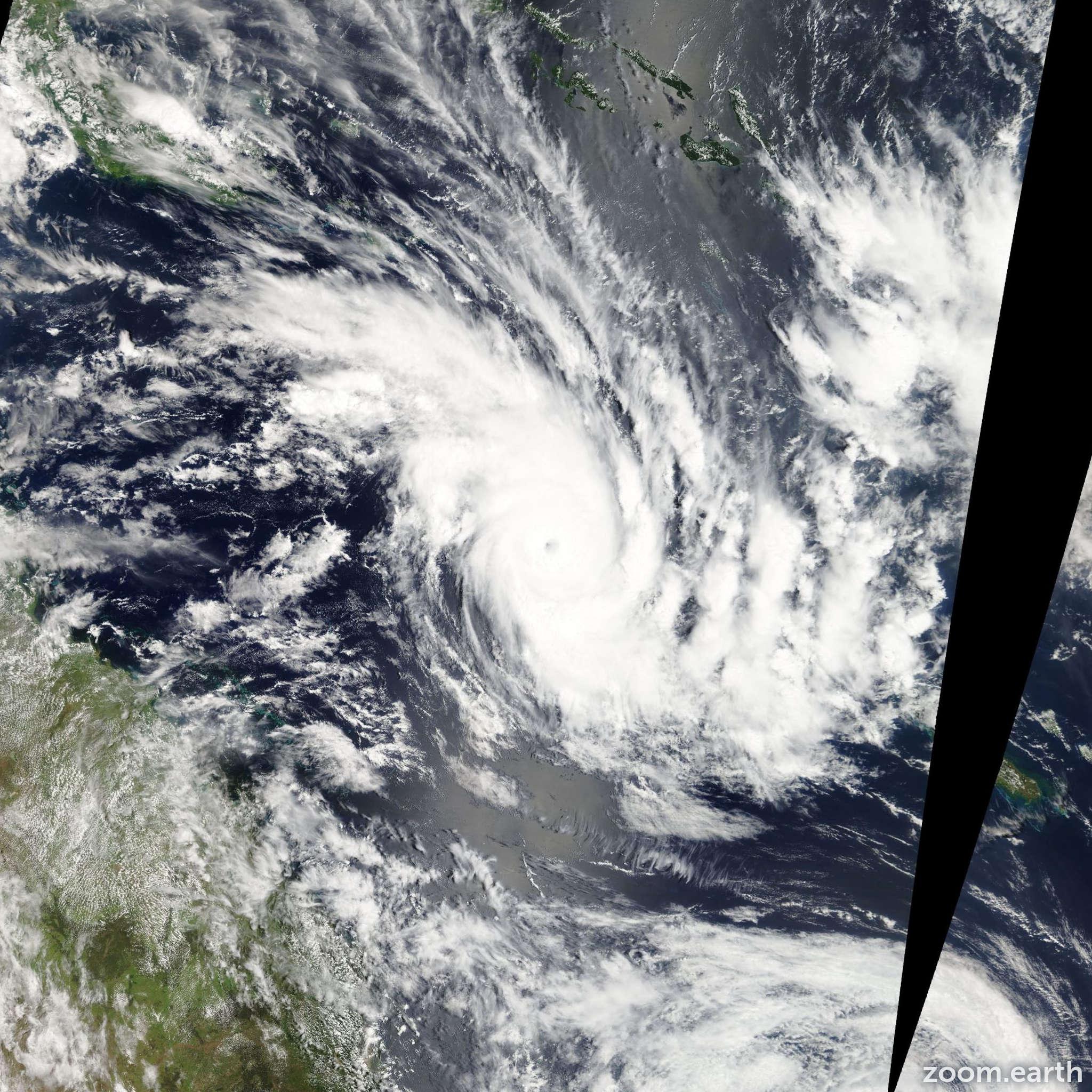 Satellite image of Cyclone Zelia 2011